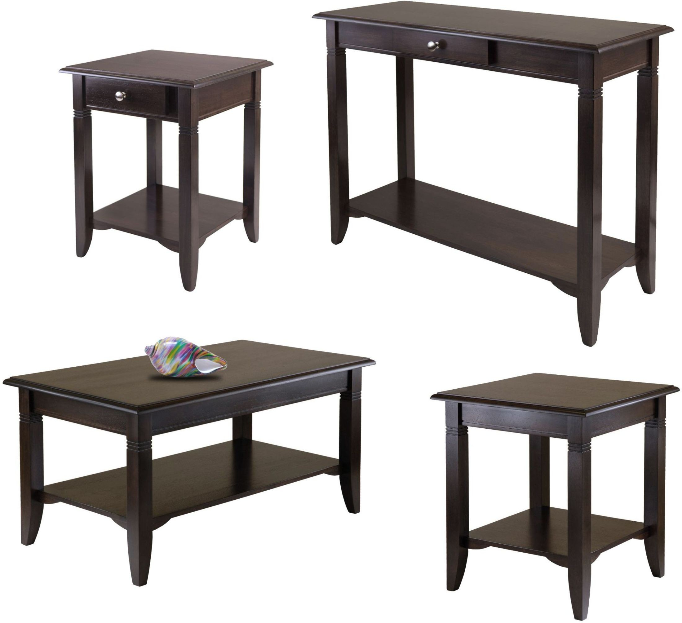 Nolan Cappuccino Coffee Table 40237 Winsome