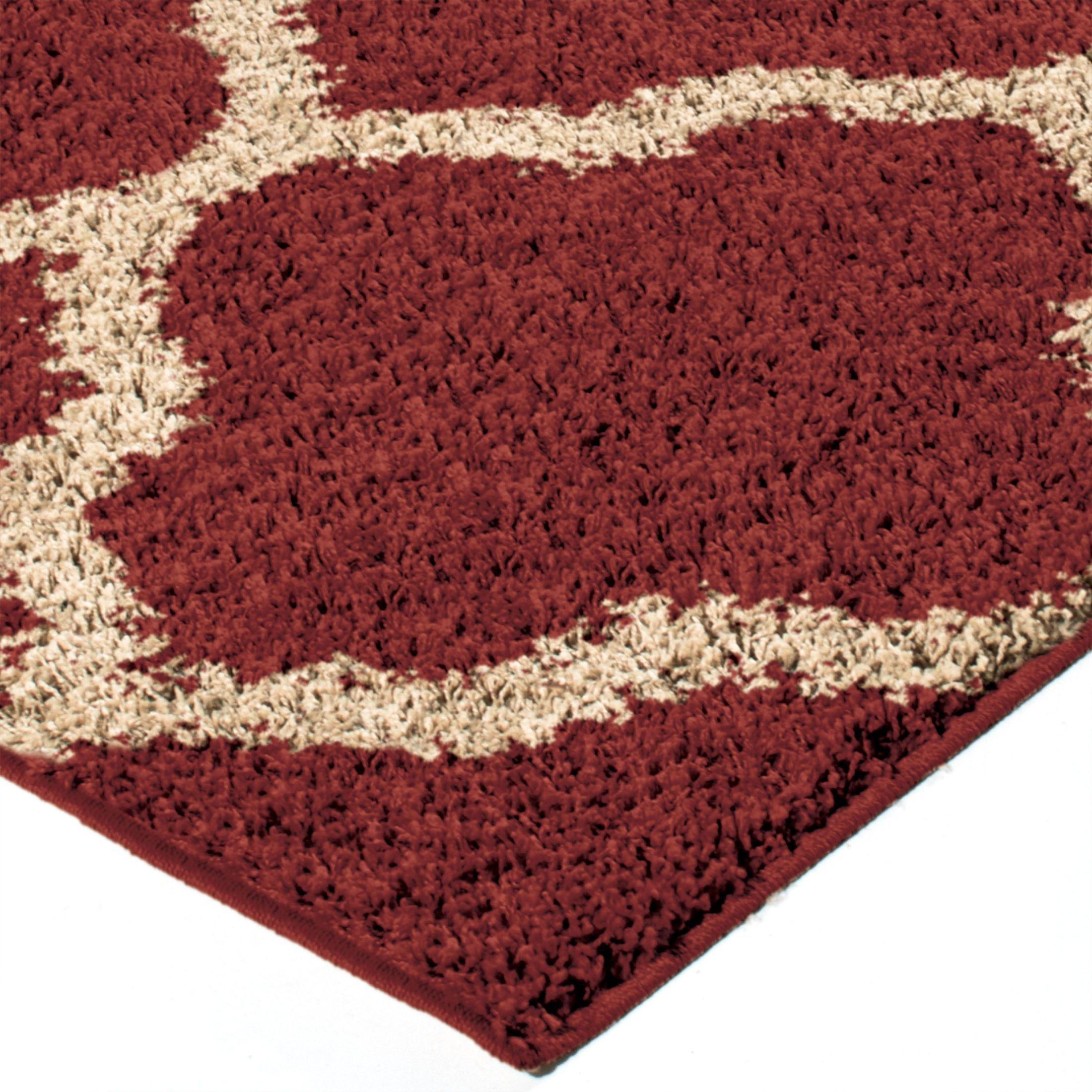 Orian Rugs Plush Trellis Malton Red Area Large Rug, 3713