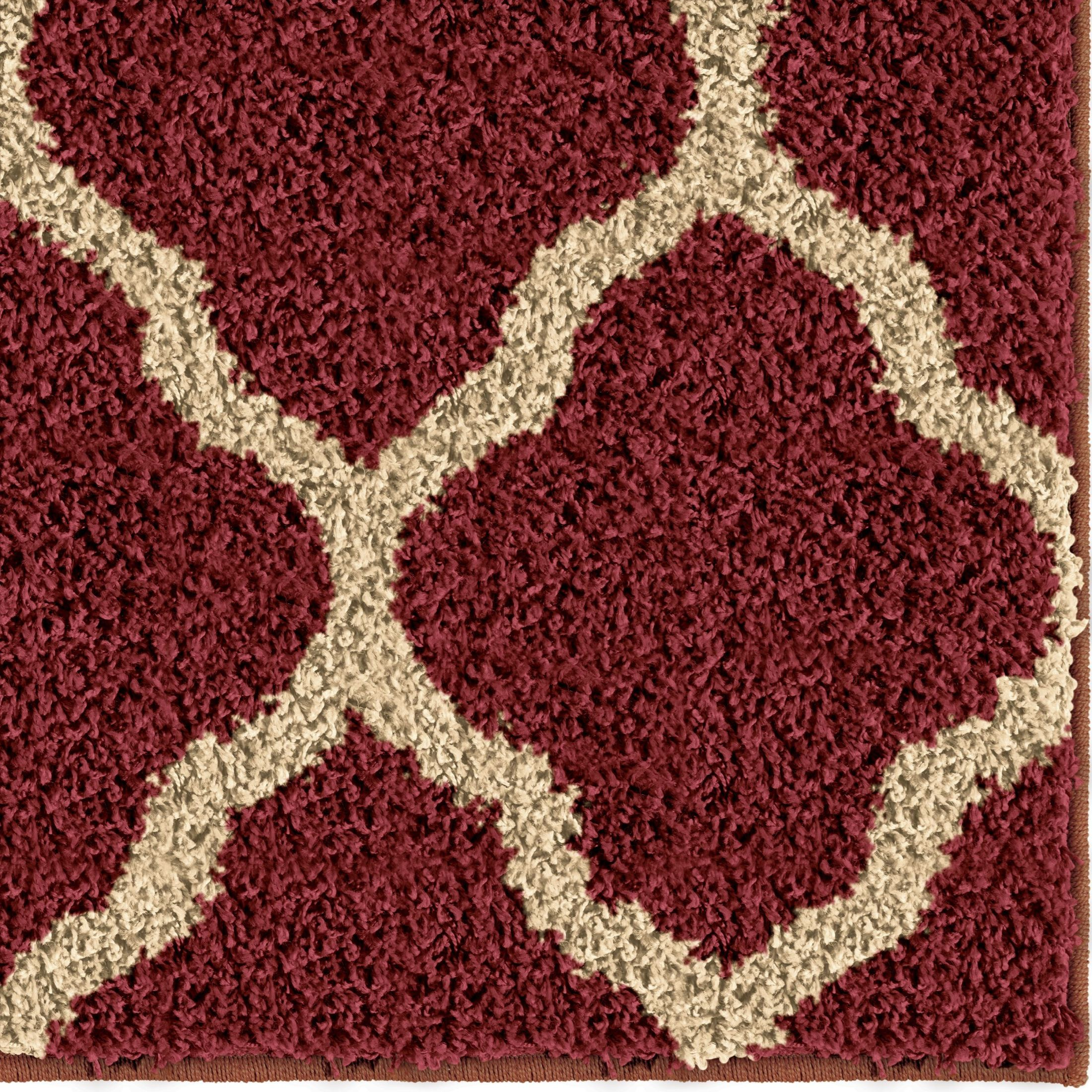 Orian rugs plush trellis malton red area large rug 3713 for Large red area rugs