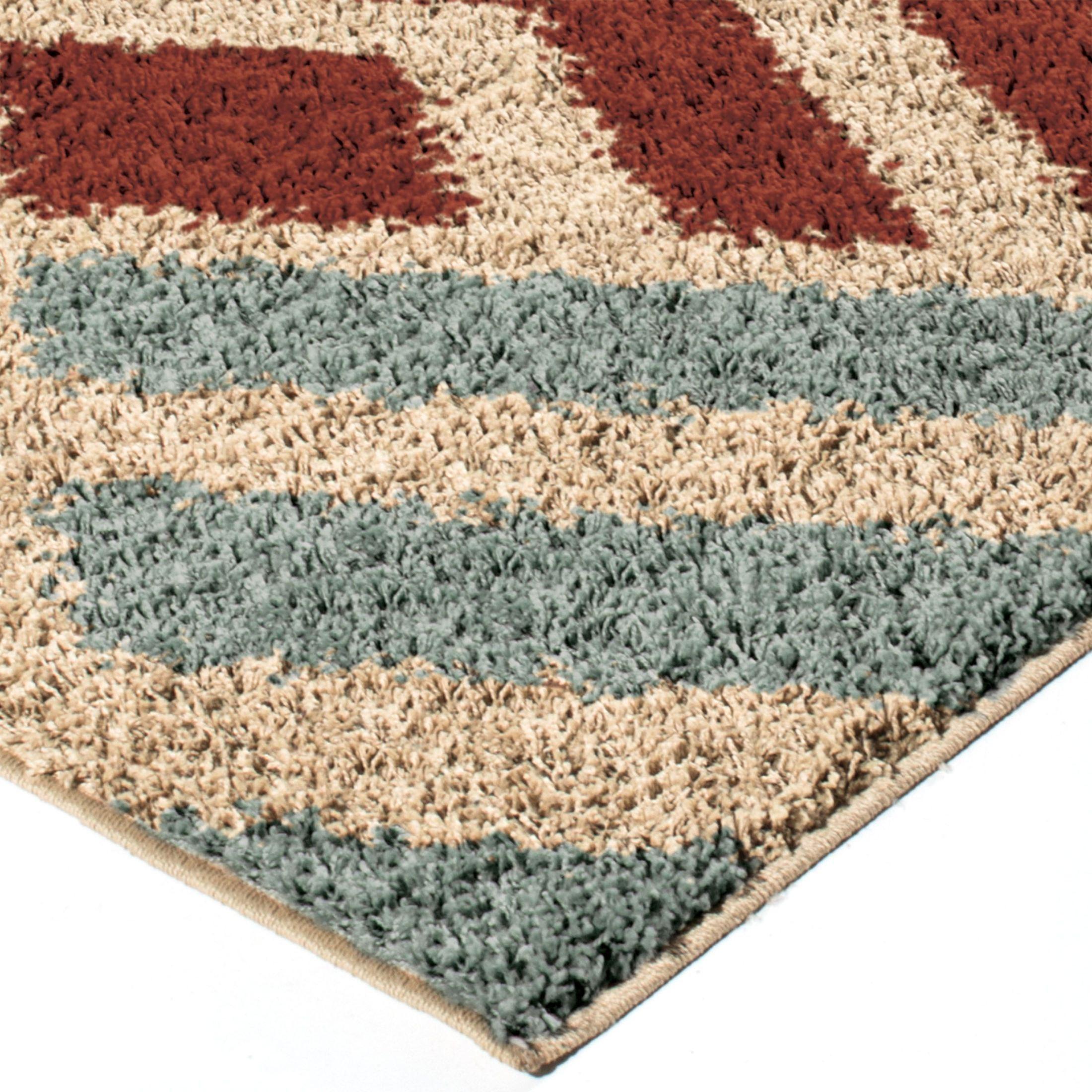 Orian Rugs Plush Shapes Amazement Multi Area Large Rug