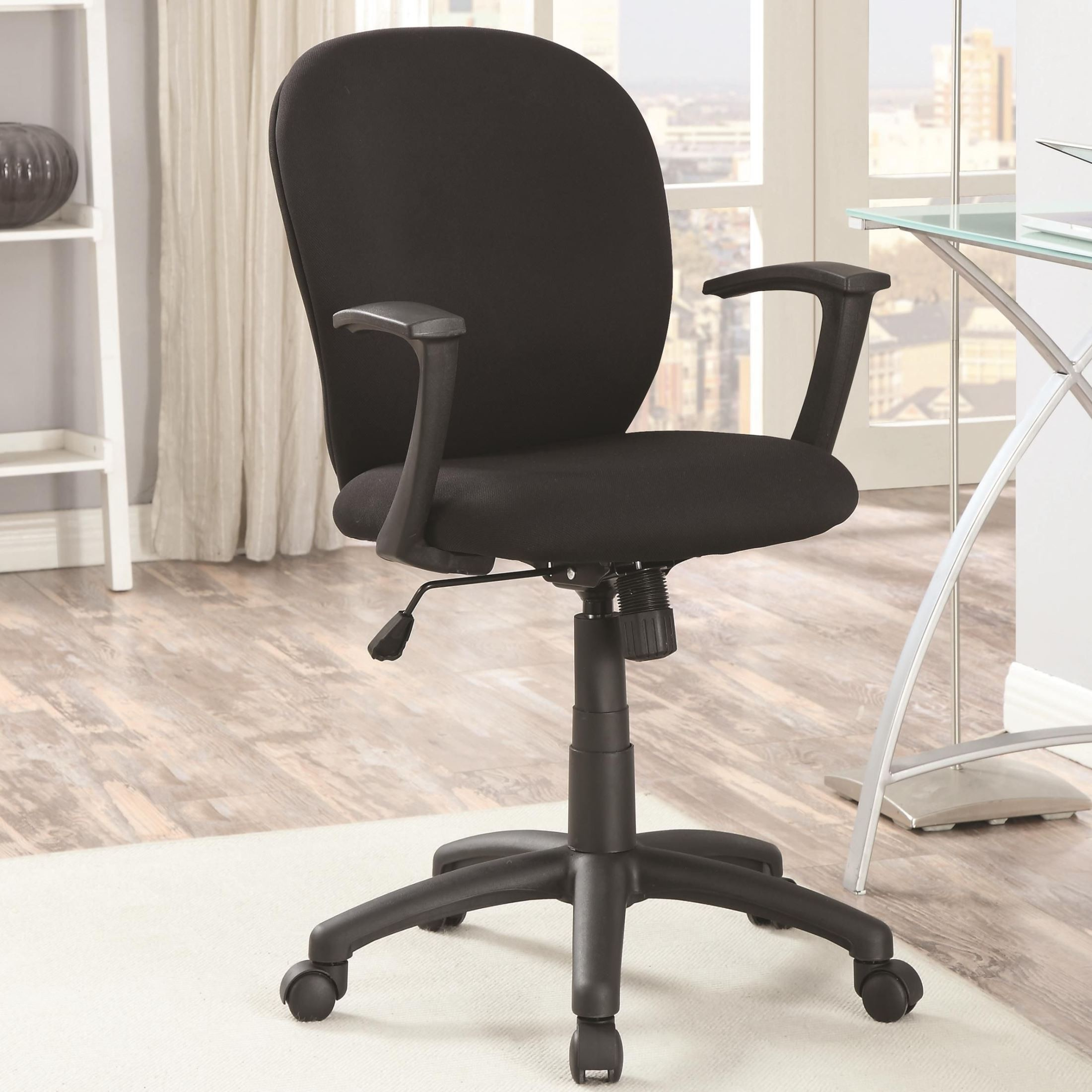 800537 Black Padded Office Chair From Coaster 800537 Coleman Furniture