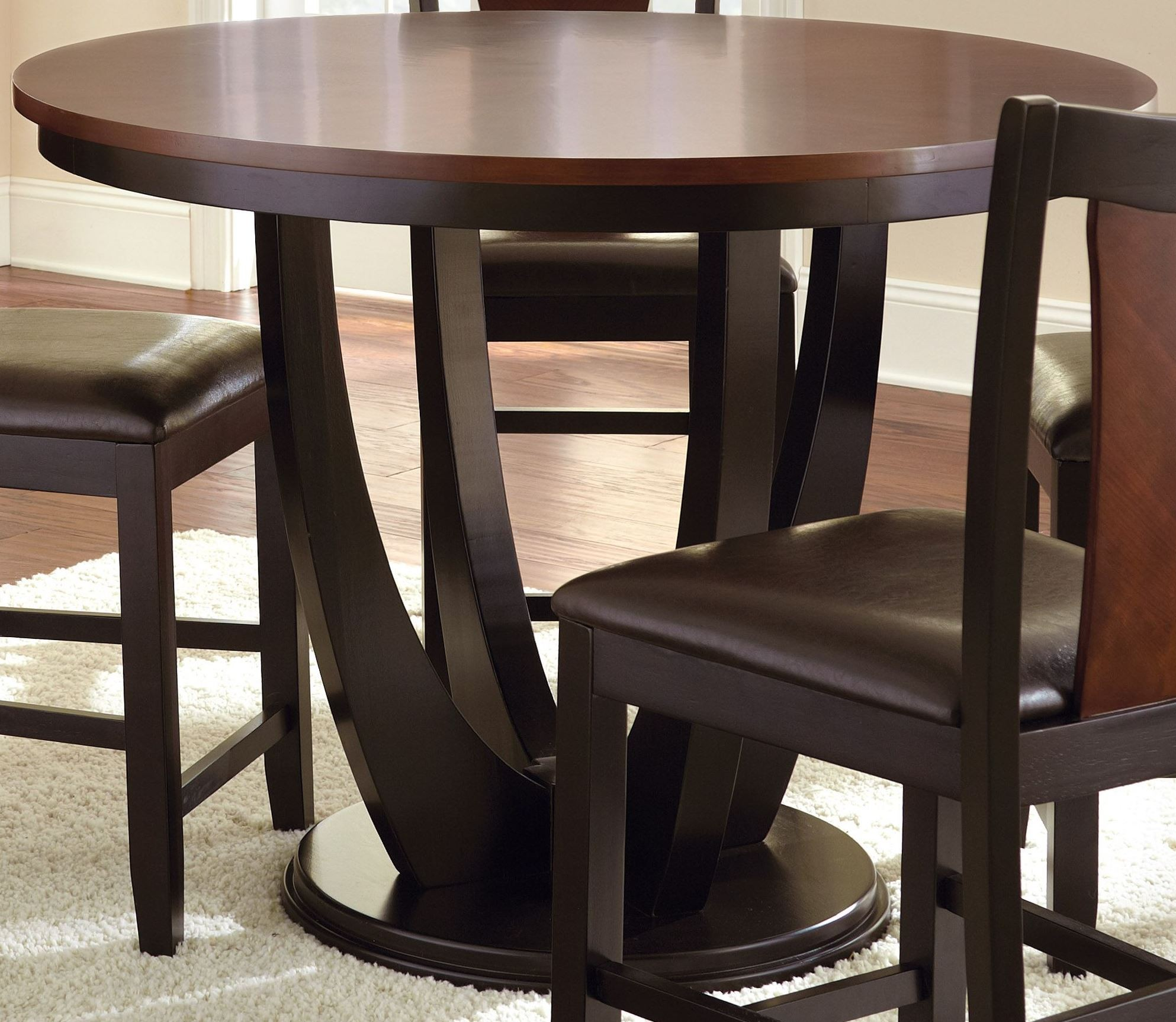 oakton round counter height dining table from steve silver ok4848pb