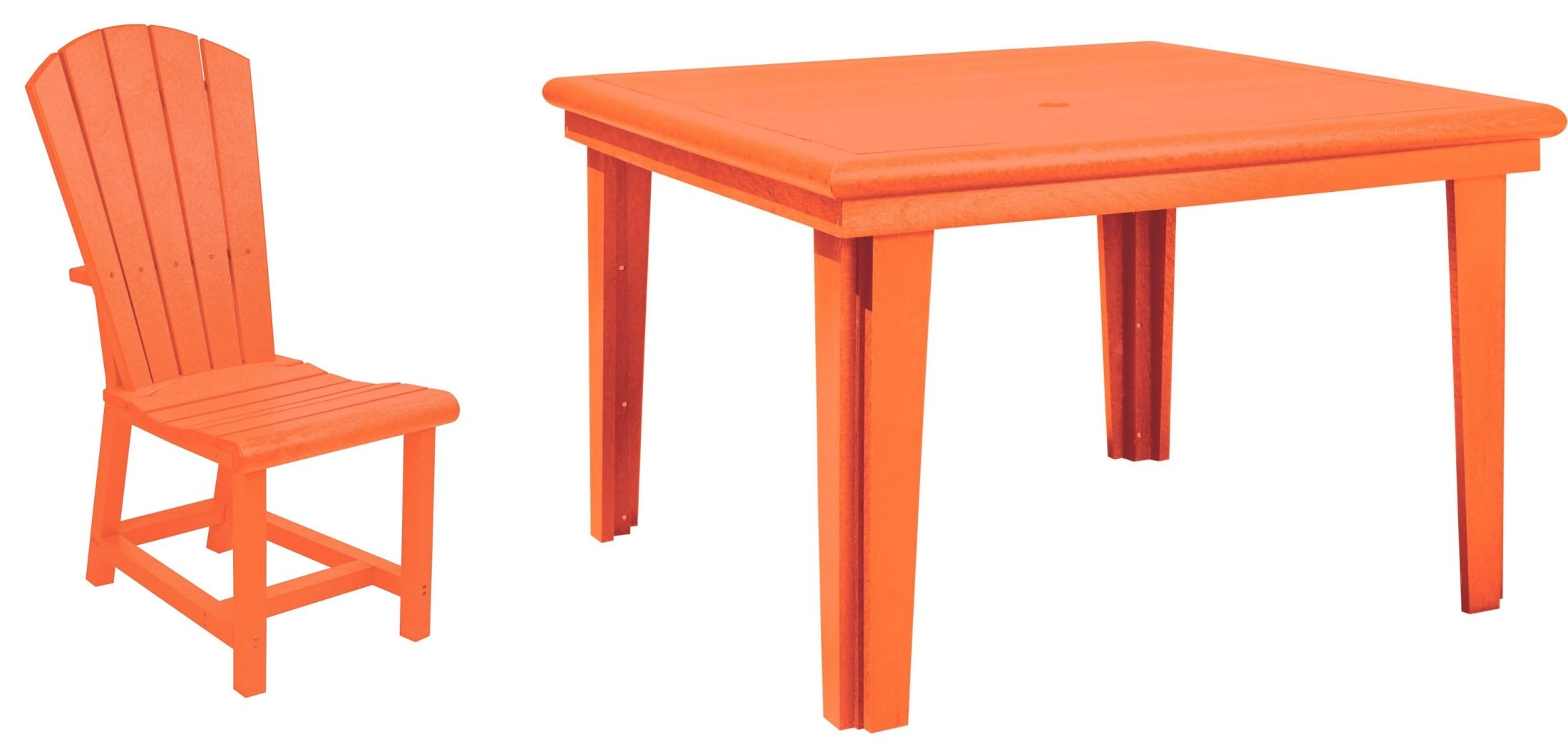 generations orange 46 quot square dining room set from cr