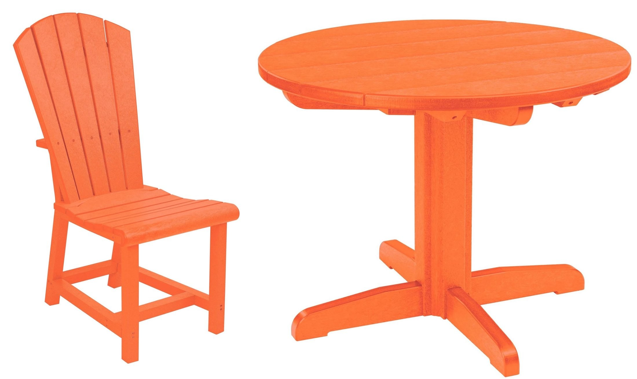generations orange 37 quot round pedestal dining room set from