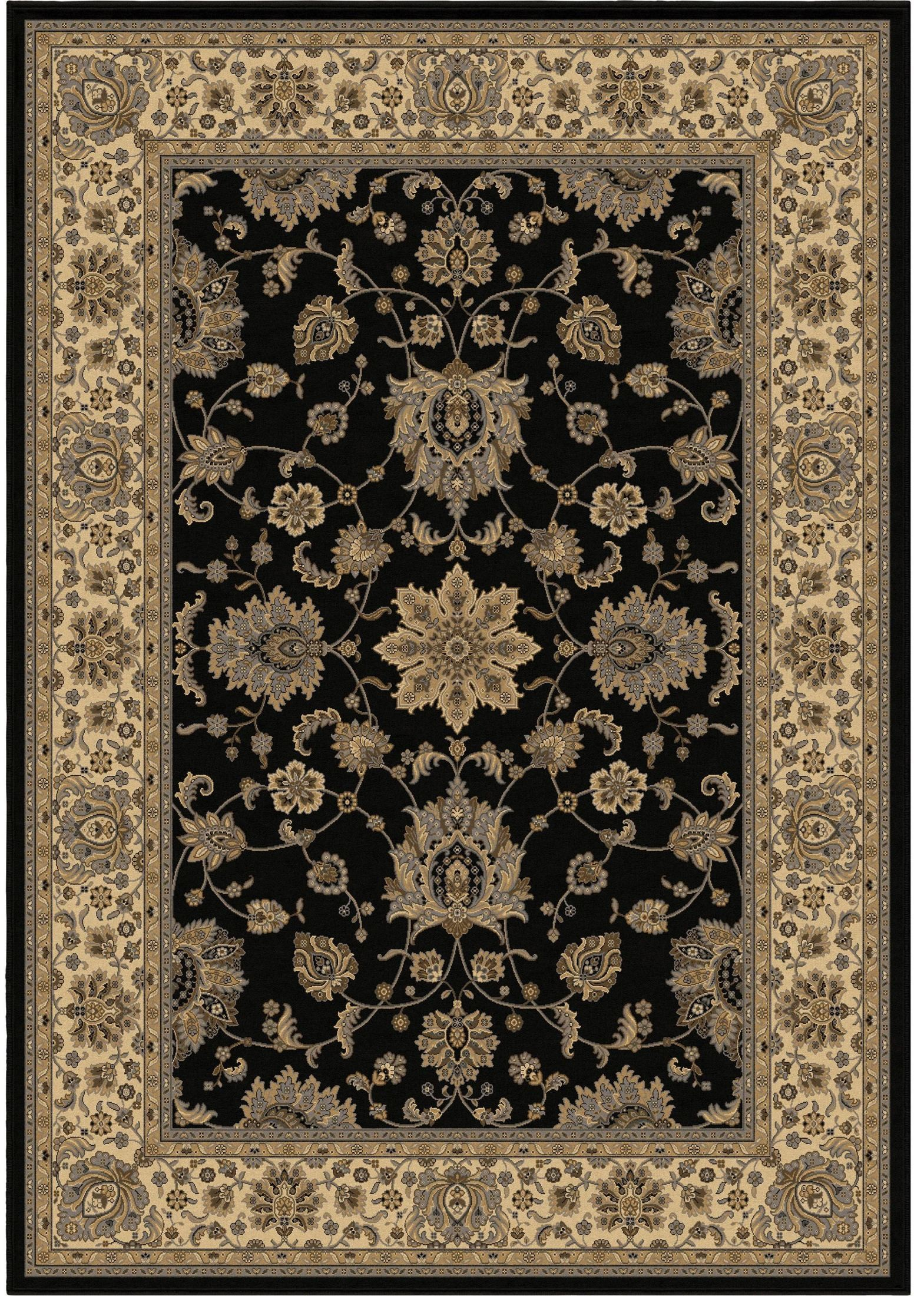 Large Black Area Rug Orian Rugs Floral Floral Halley