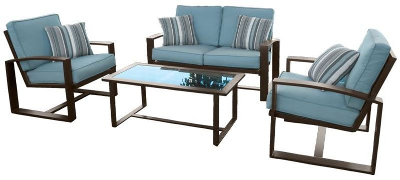 Affilato Mist Outdoor Living Room Set OU1036T 05 4PCSET