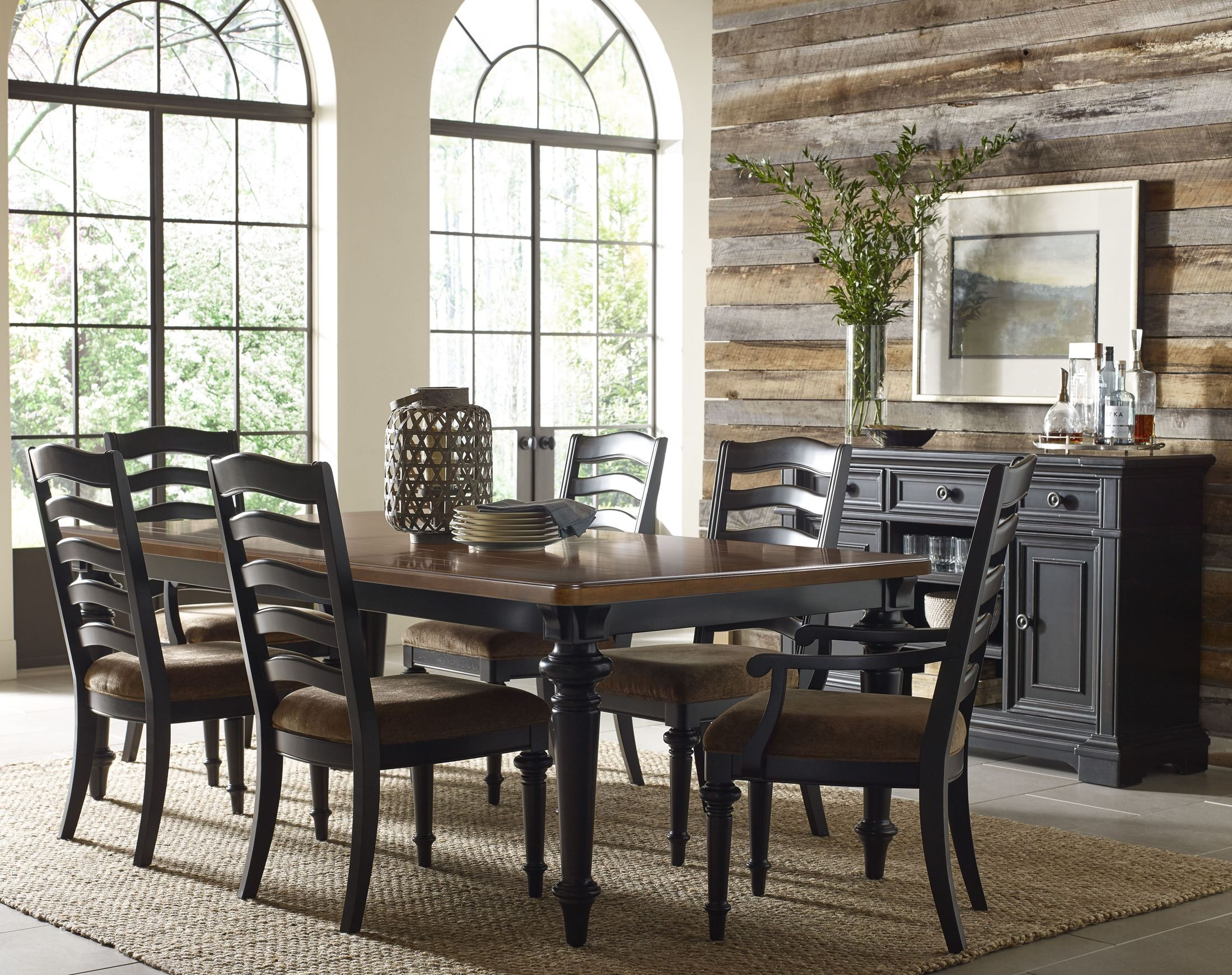Arrow Ridge Gray Rectangular Counter Height Dining Room Set, P005242 ...