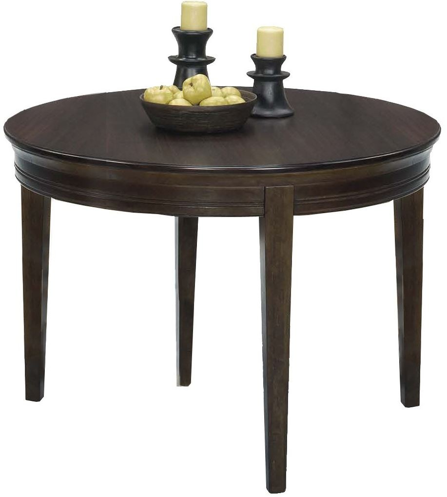 Casual Traditions Walnut Round Dining Table P107D 13 Progressive