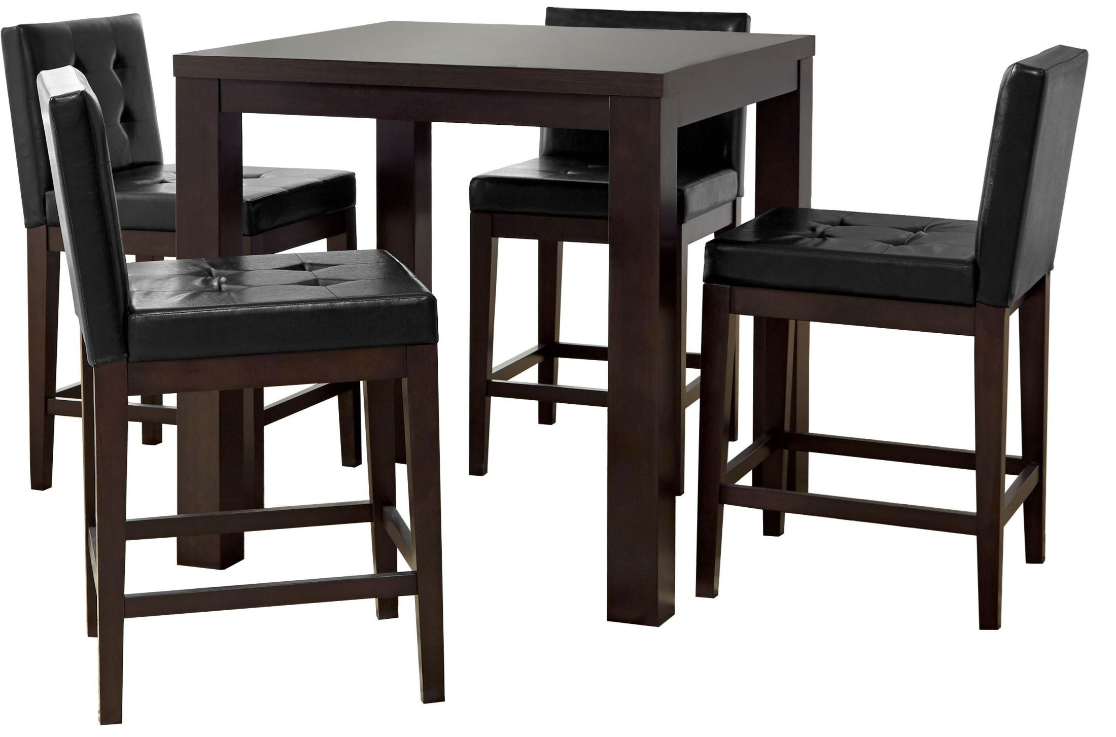 athena dark chocolate square counter height dining table p109d 16 progressive. Black Bedroom Furniture Sets. Home Design Ideas