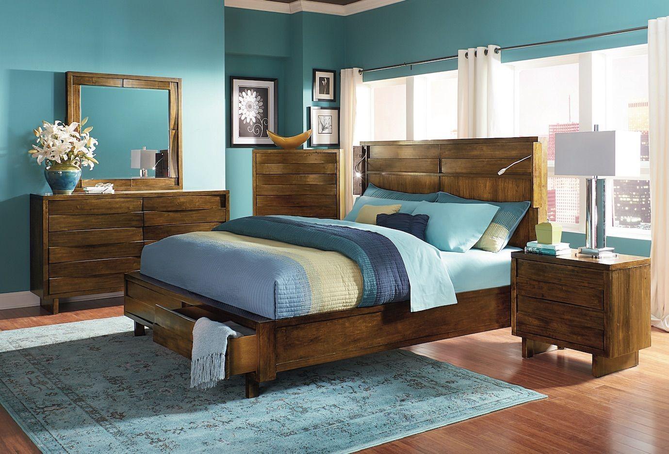 North Shore Bedroom Set : North Shore Acorn Storage Bedroom Set, P154-34-35-78, Progressive
