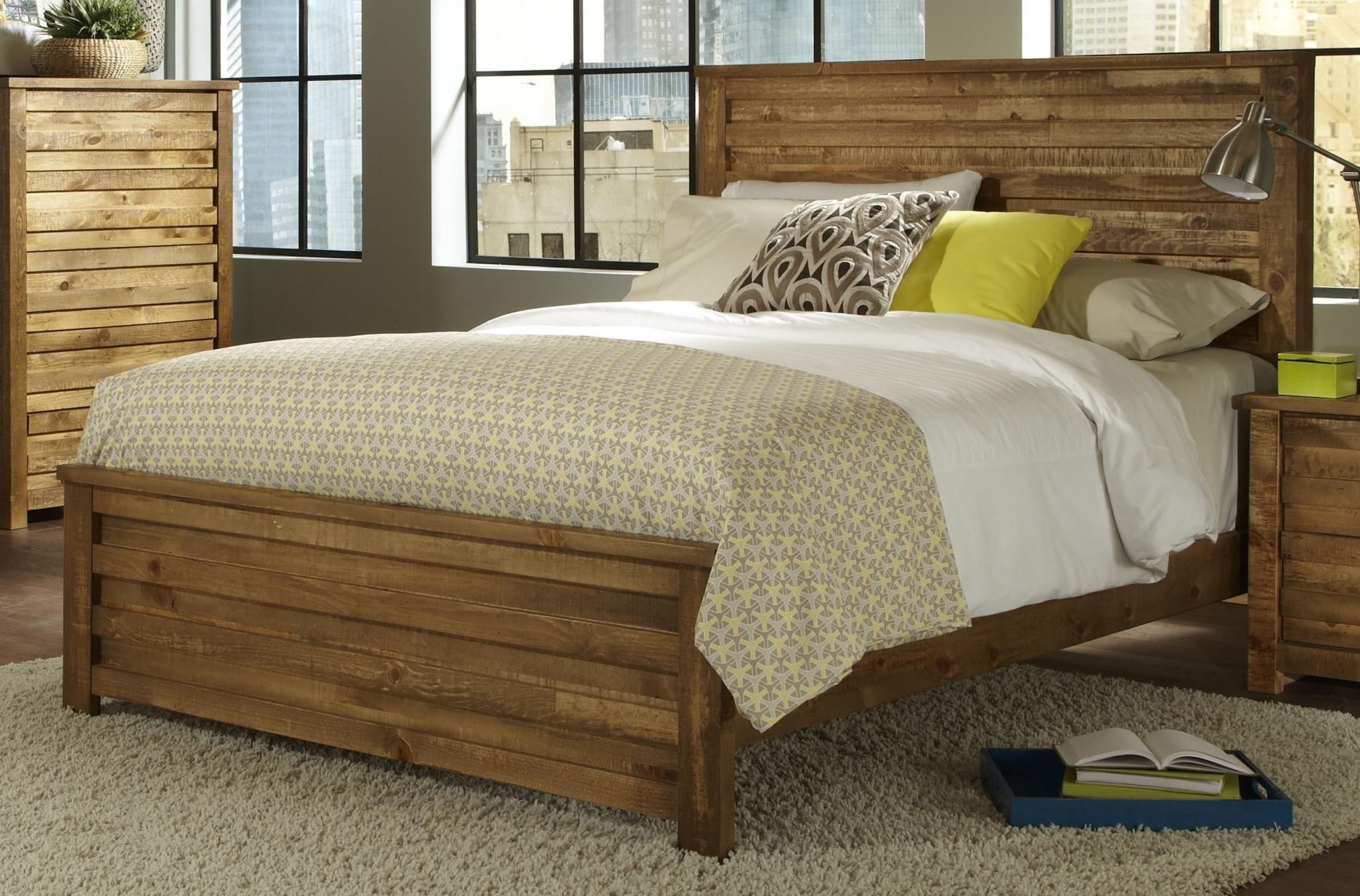 melrose driftwood panel bedroom set p604 34 35 78