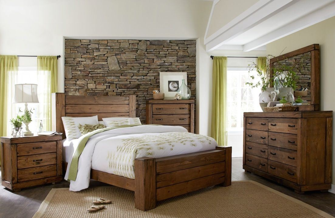 Maverick Driftwood Panel Bedroom Set P626 34 35 78 Progressive