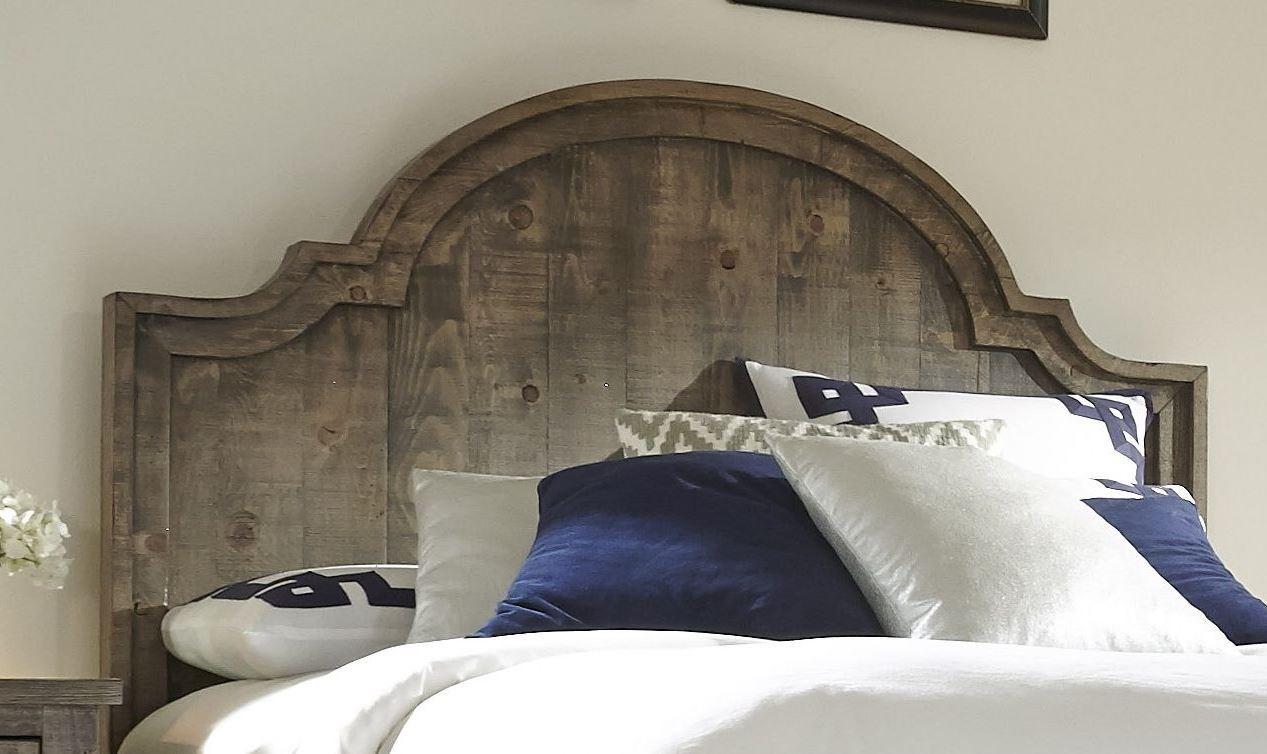 Weathered Gray King Bedroom Set : Meadow weathered gray panel bedroom set p
