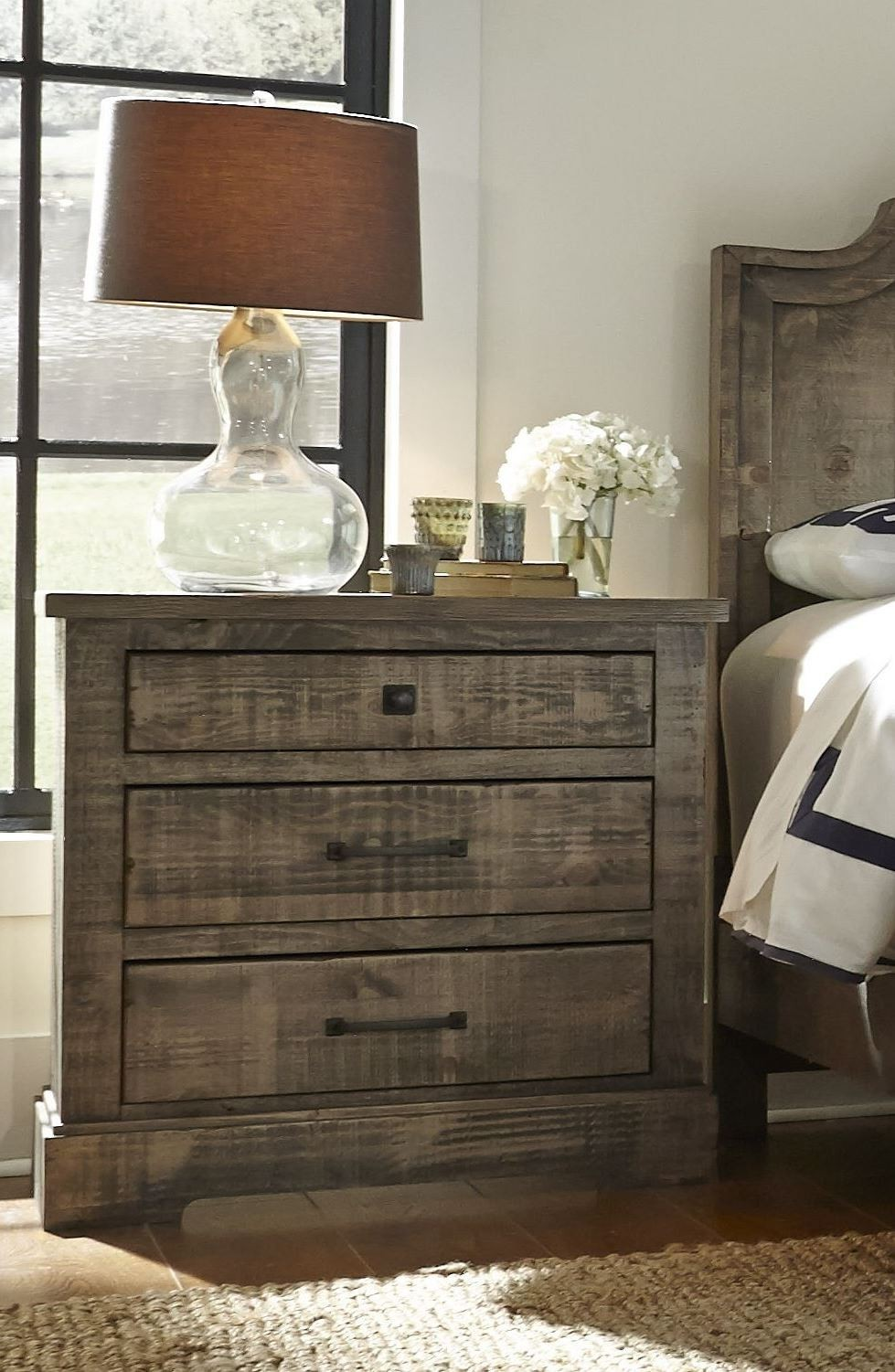 Weathered Gray Bedroom Furniture : Meadow weathered gray panel bedroom set p