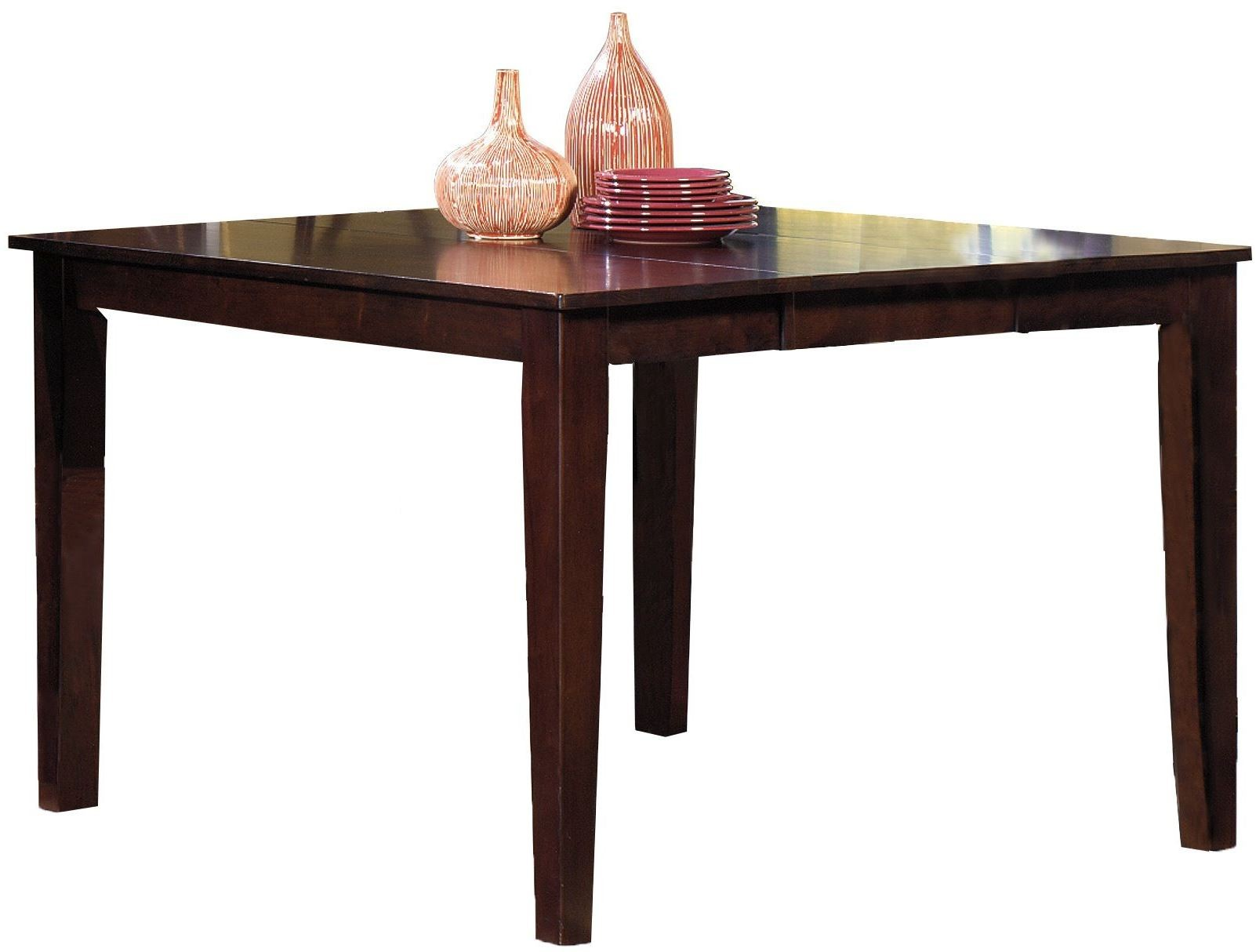Winston espresso winston counter height dining table p810 for Espresso dining table