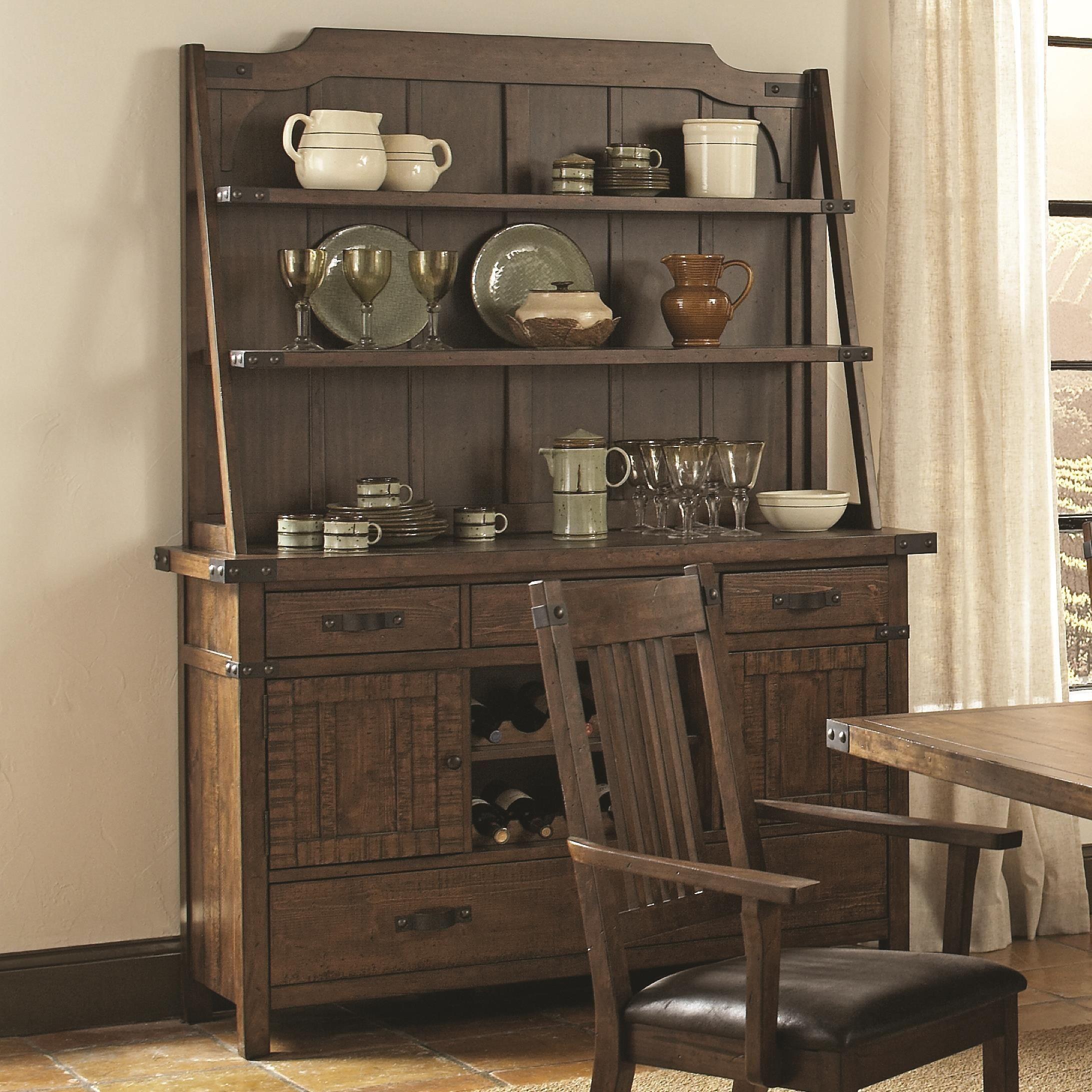 Rustic buffet table furniture - Padima Rustic Rough Sawn Buffet With Hutch Coaster Furniture