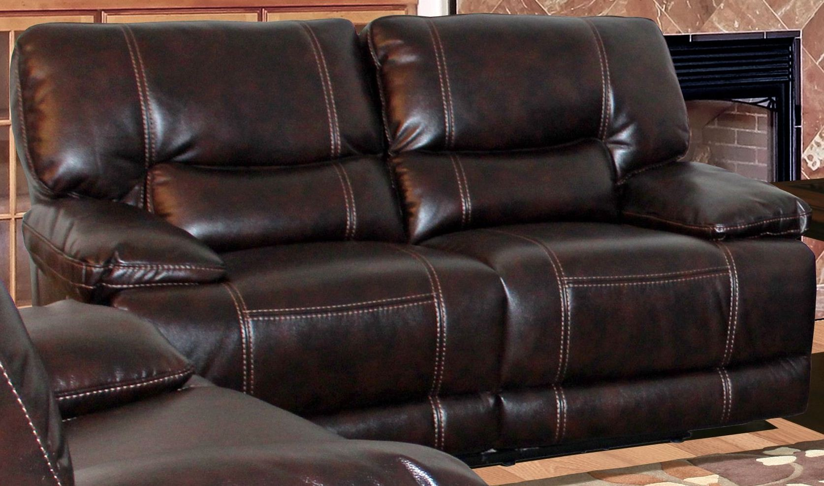 Pegasus Nutmeg Dual Power Reclining Loveseat Pal Mpeg 822p Nu Cl Parker House