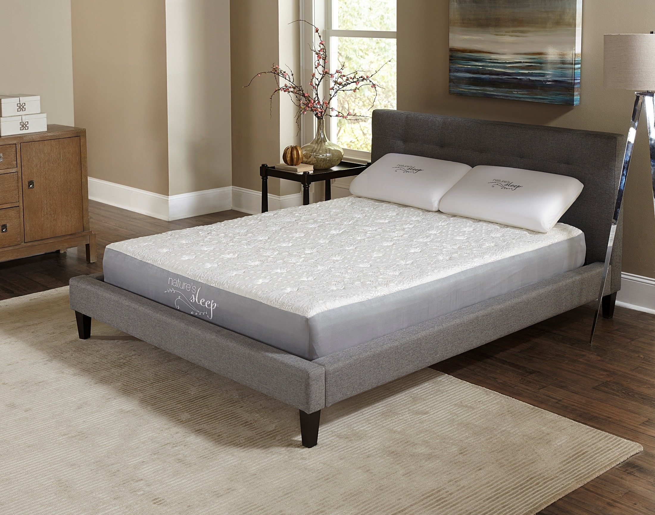 8 5 gel memory foam twin long mattress from nature 39 s. Black Bedroom Furniture Sets. Home Design Ideas