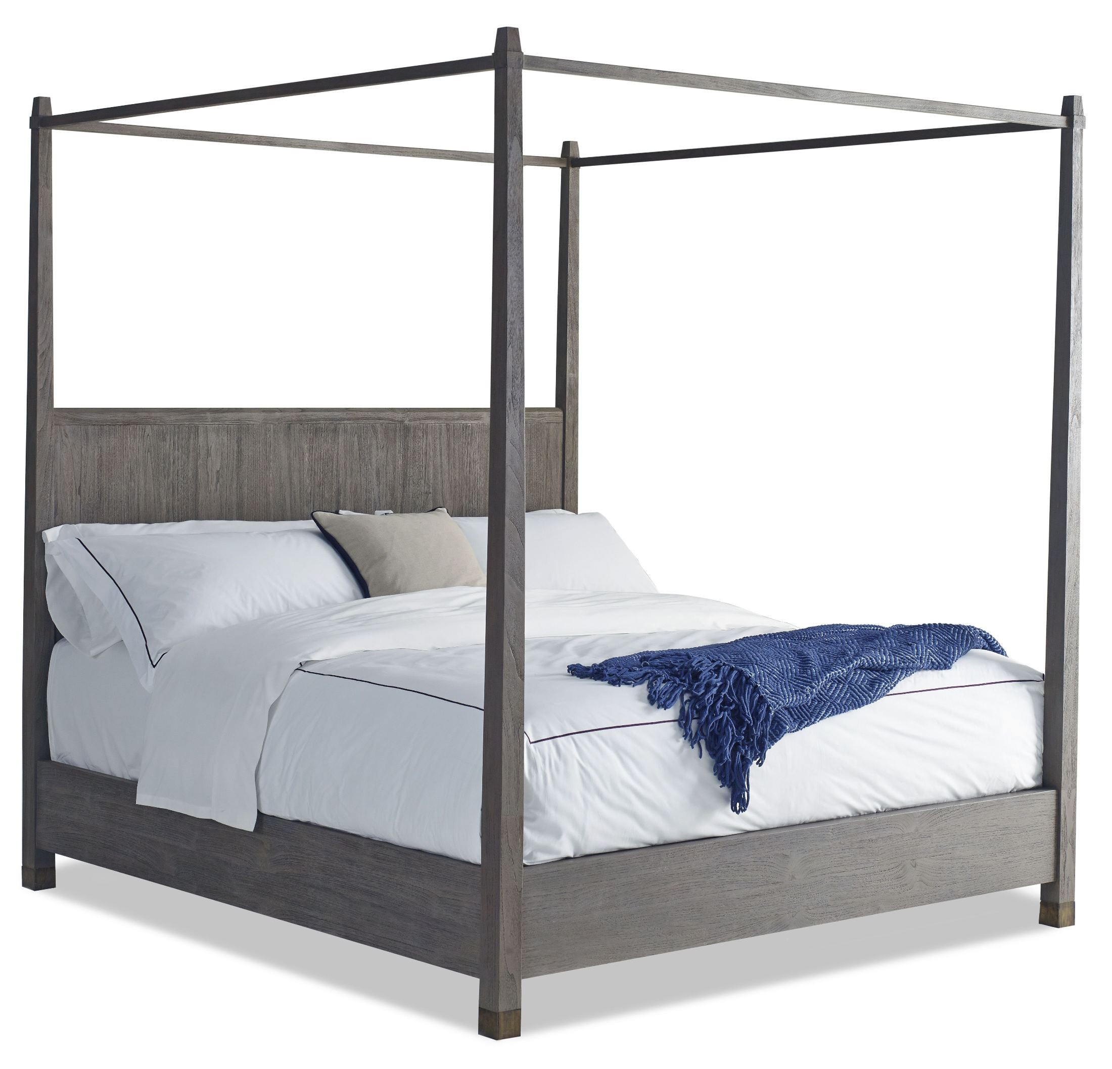 Palmer cal king size canopy bed from brownstone pl007 for Cal king bed size
