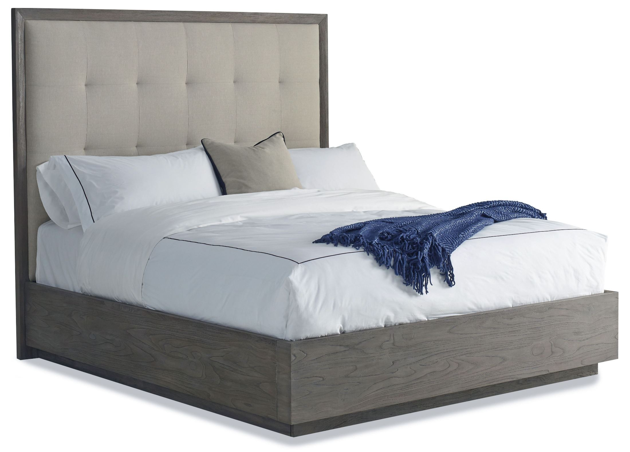 Palmer Queen Upholstered Platform Bed from Brownstone (PL117 ...