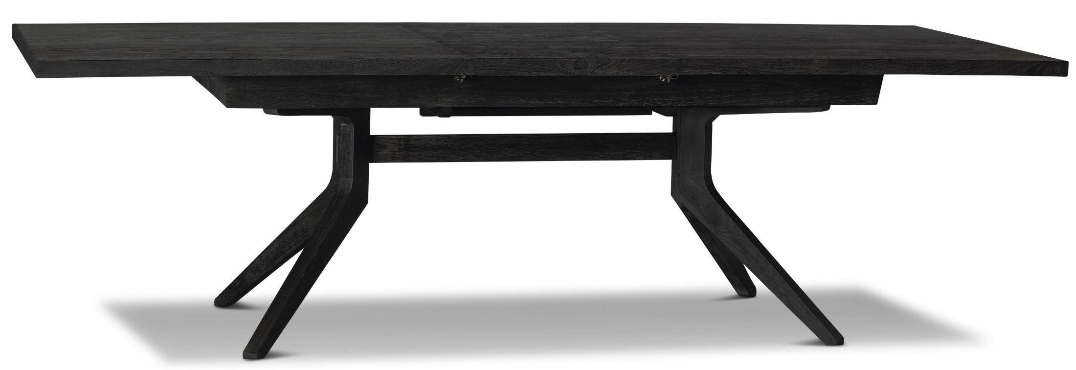 Palmer Rectangular Extendable Trestle Dining Table BRS  : plm303moderntrestletable from colemanfurniture.com size 2200 x 756 jpeg 122kB