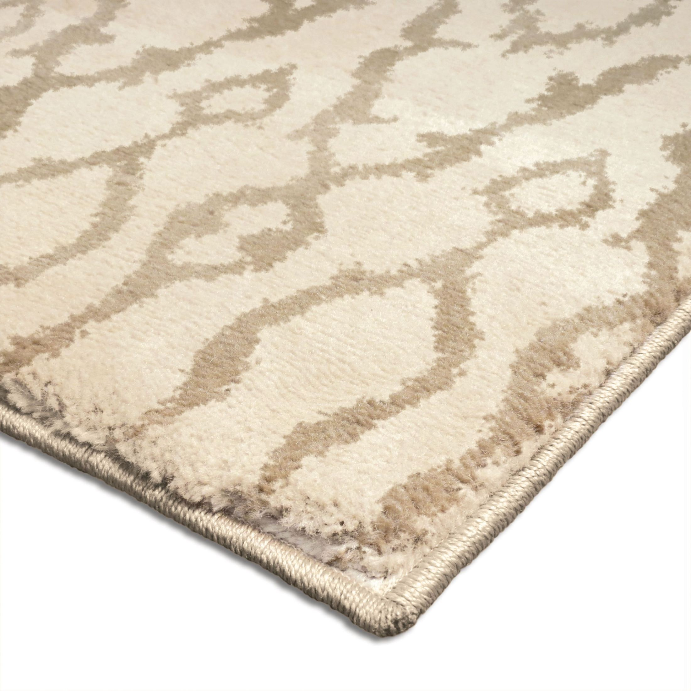 Huge Plush Rug: Orian Rugs Plush Abstract Alagara Ivory Area Large Rug