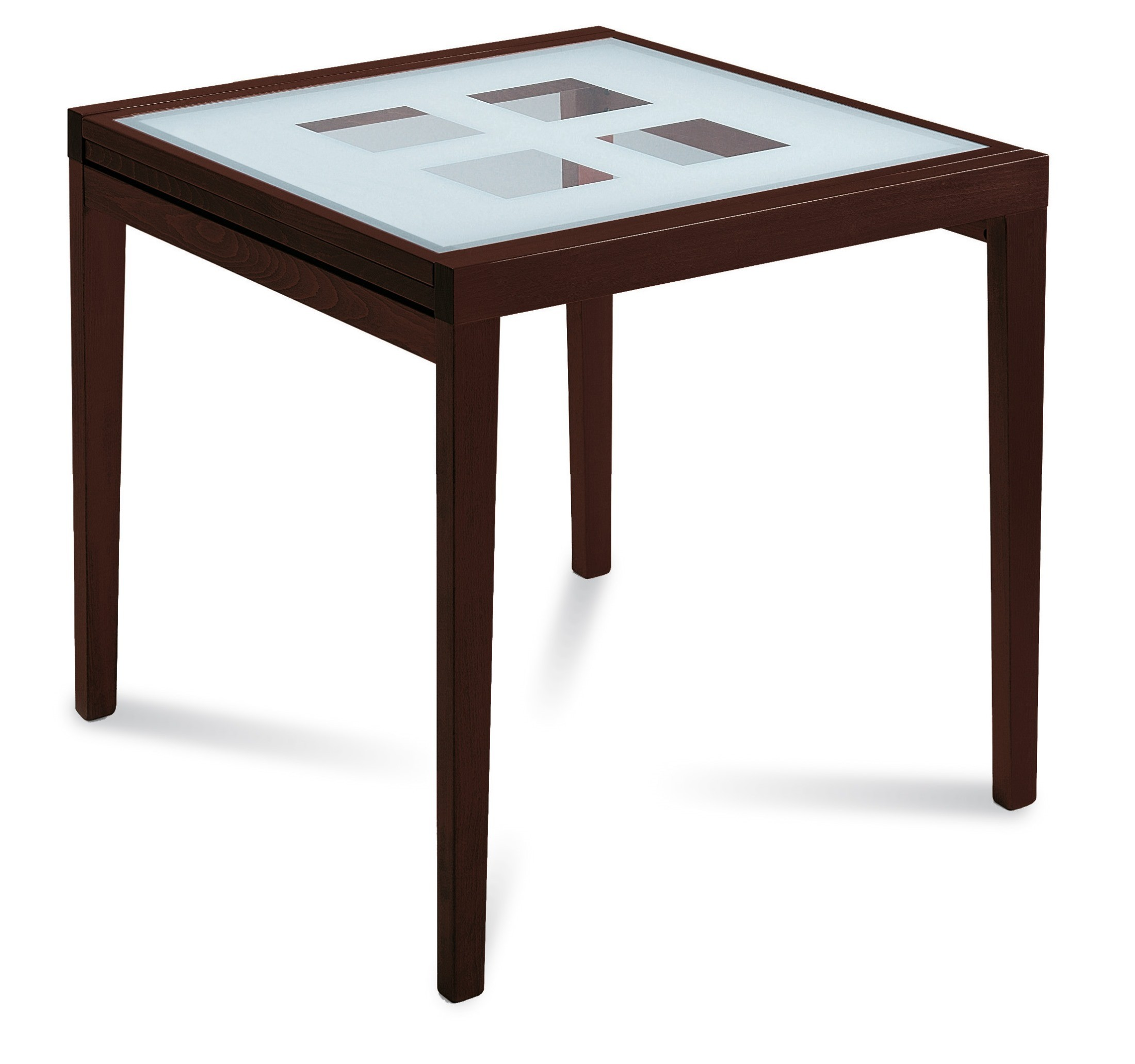 Poker Wenge Extendable Square Dining Table From Domitalia
