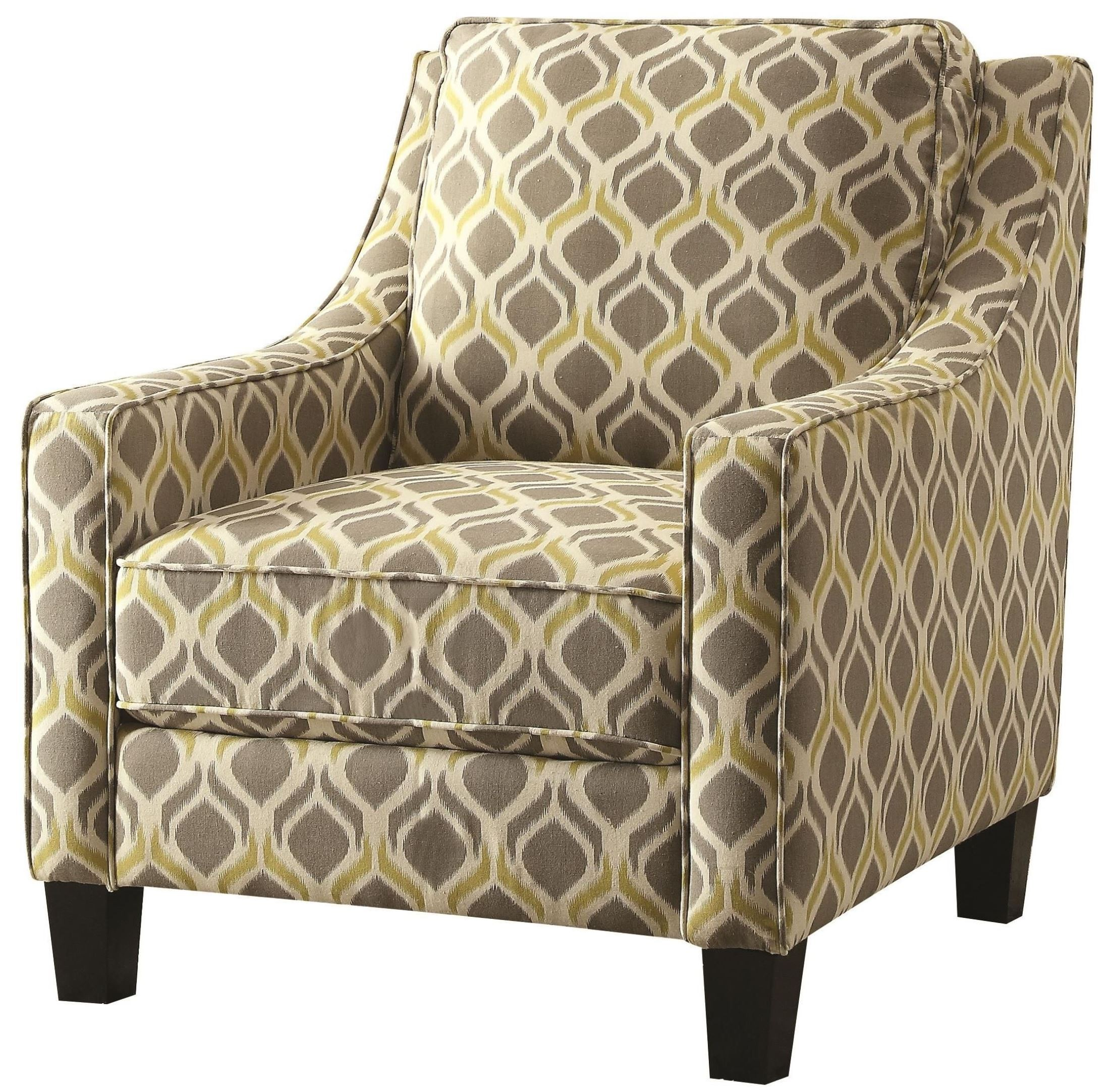 Grey And Yellow Pattern Accent Chair From Coaster 902428 Coleman Furniture