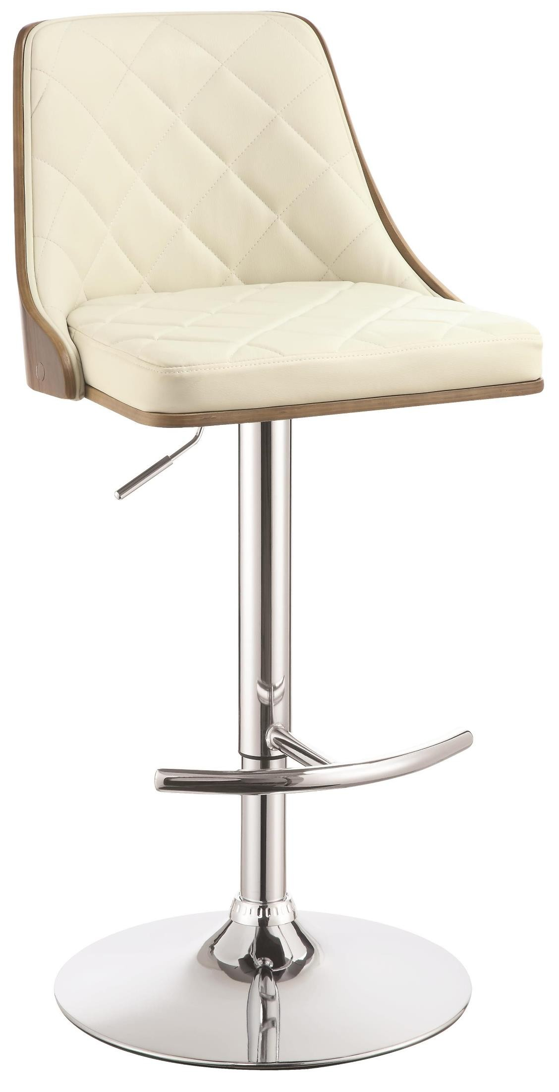 Ecru Upholstered Adjustable Bar Stool From Coaster (100411) Coleman . Full resolution  image, nominally Width 1128 Height 2200 pixels, image with #857546.