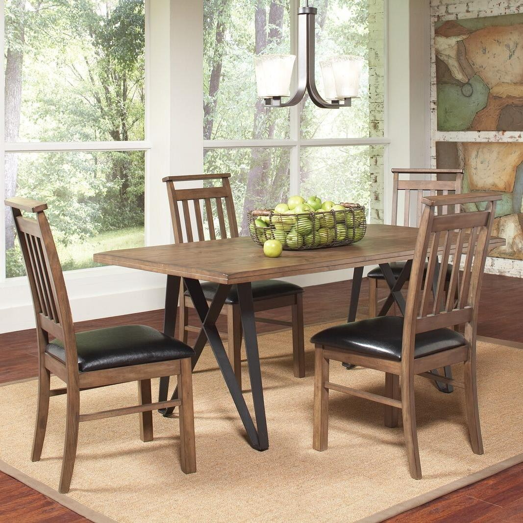 Ferguson Rustic Taupe Rectangular Dining Room Set From Coaster 106341 Col