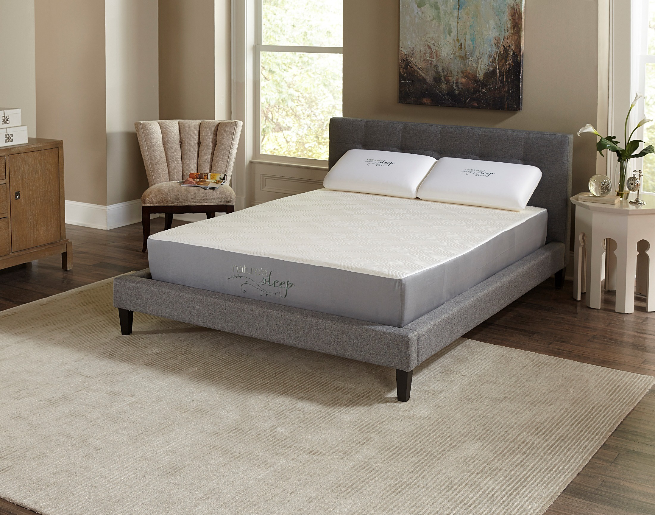 10 visco memory foam twin long mattress from nature 39 s. Black Bedroom Furniture Sets. Home Design Ideas