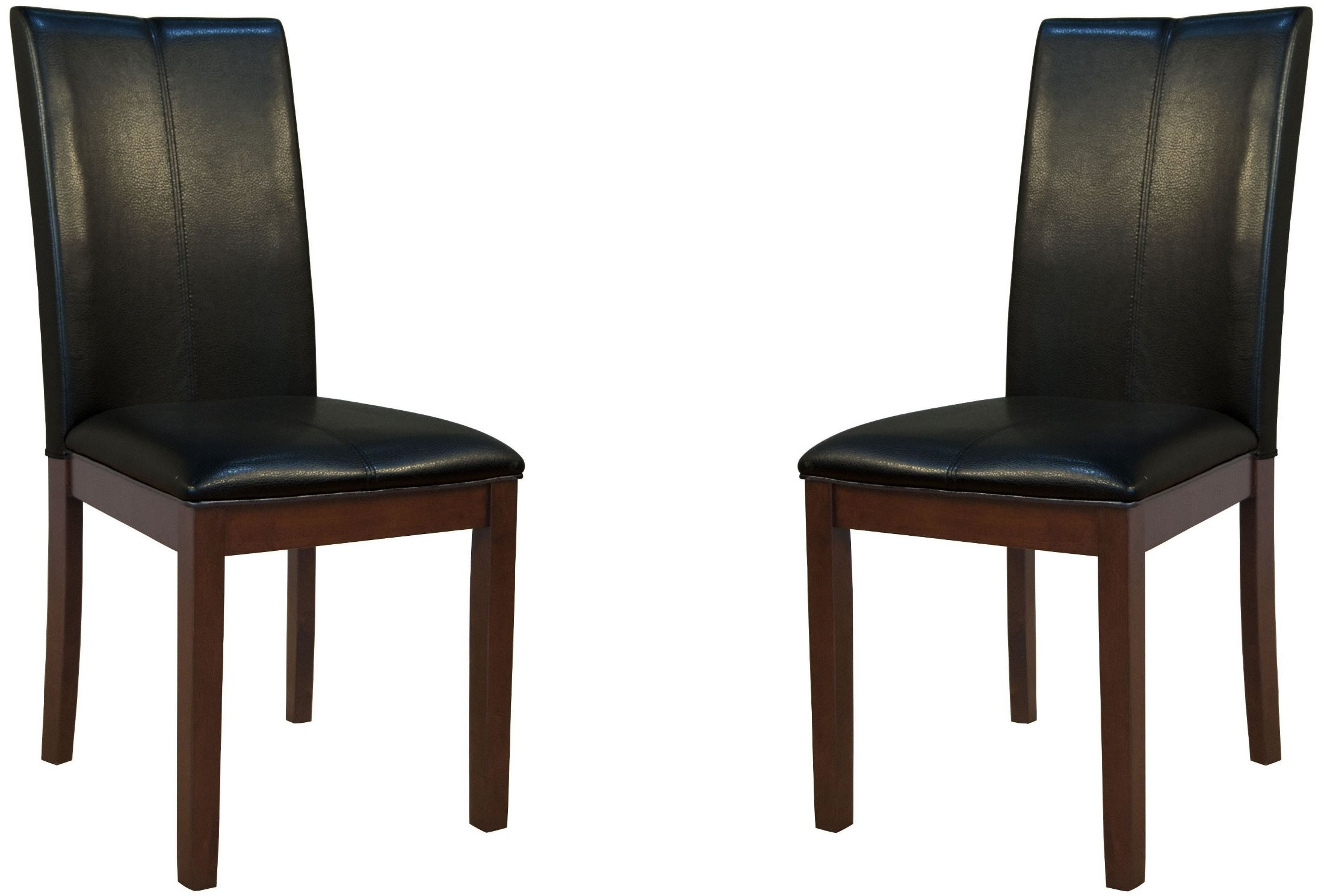 Parson Black Curved Back Dining Chair Set Of 2 PRSES221K A America