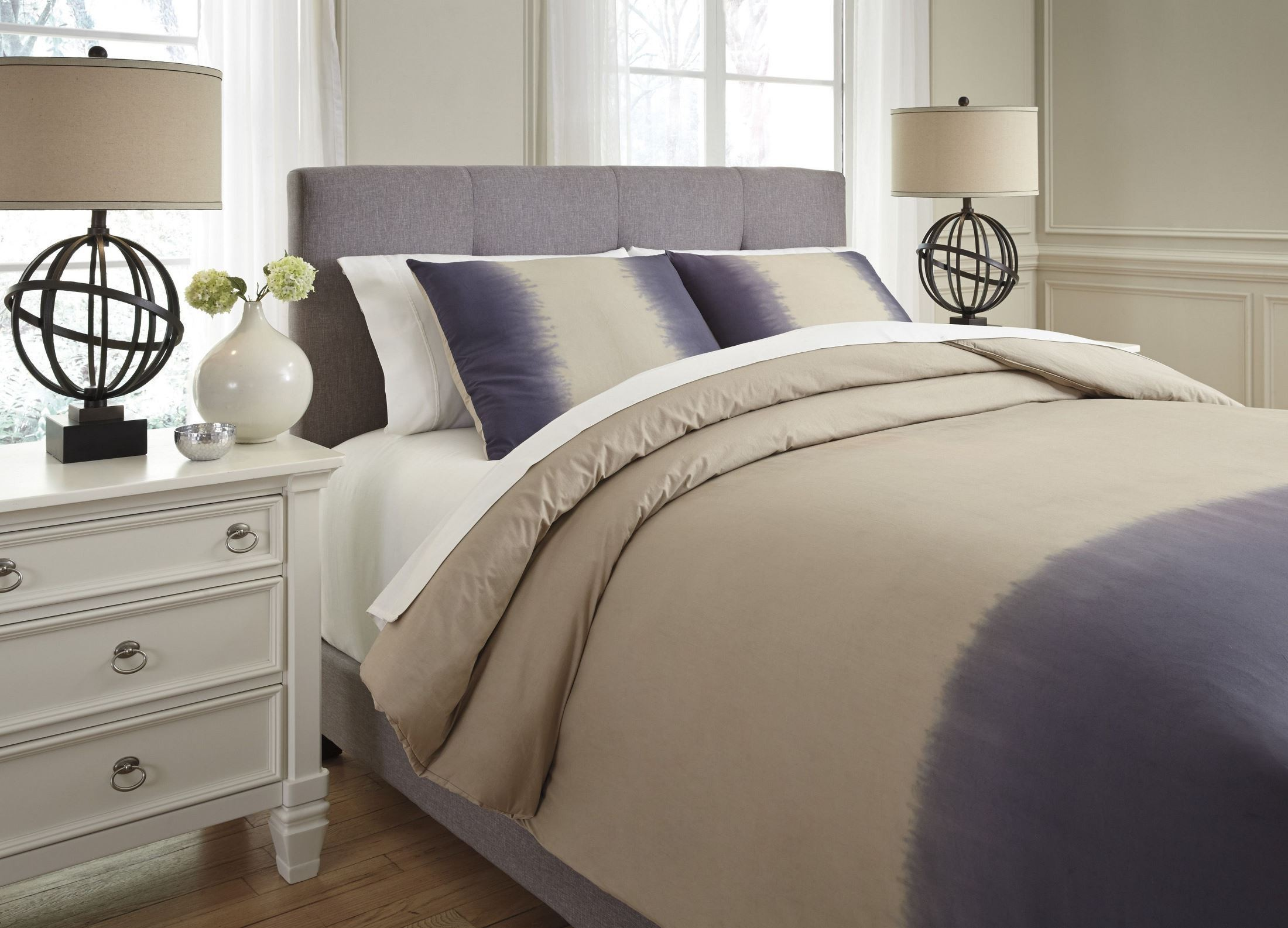 Brandon Indigo Queen Comforter Set Q404003q Ashley
