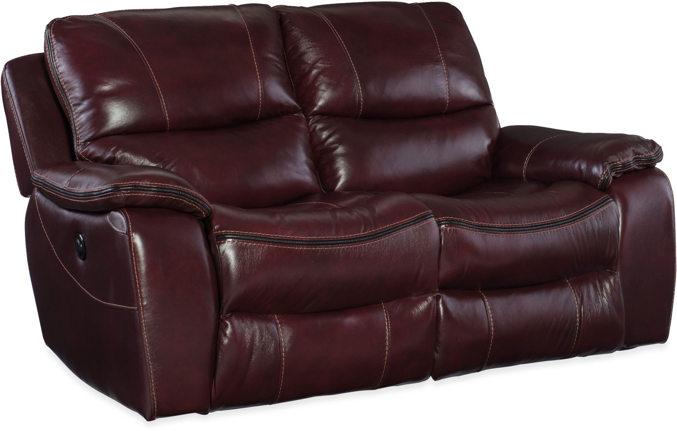 Gregory Red Power Reclining Loveseat Ss624 P2 069 Hooker Furniture