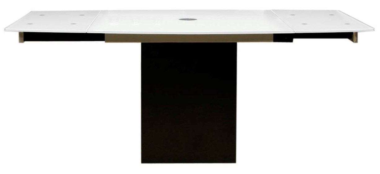 Ritz frosted glass quadrato extendable dining table from for Frosted glass dining table
