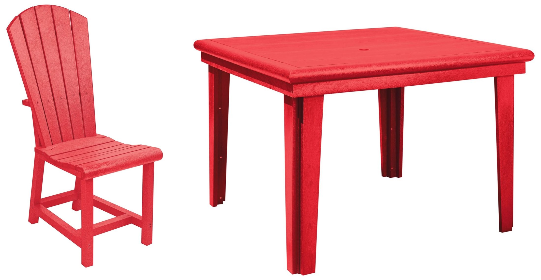 generations red 46 square dining room set from cr plastic t10 01