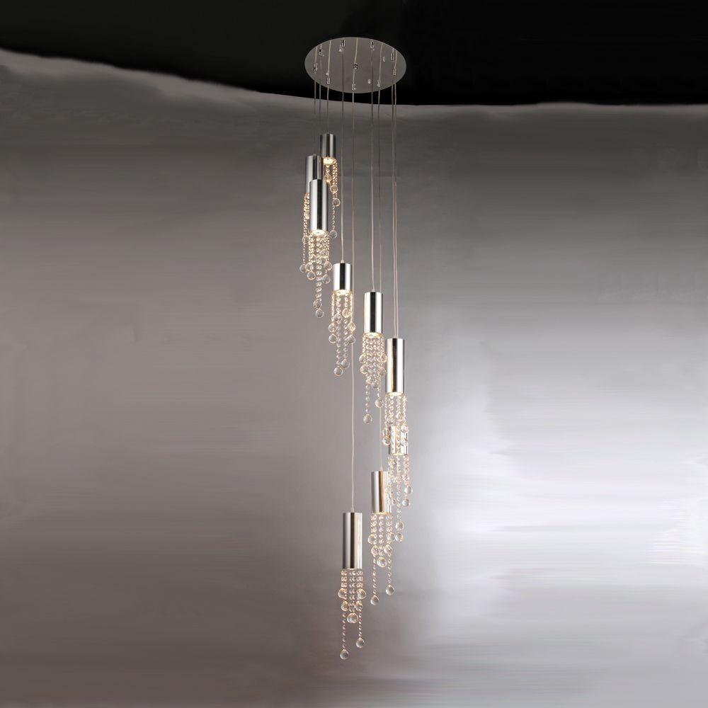 Charles Drop Down Crystal Flush 9 Light Fixture RL7997A