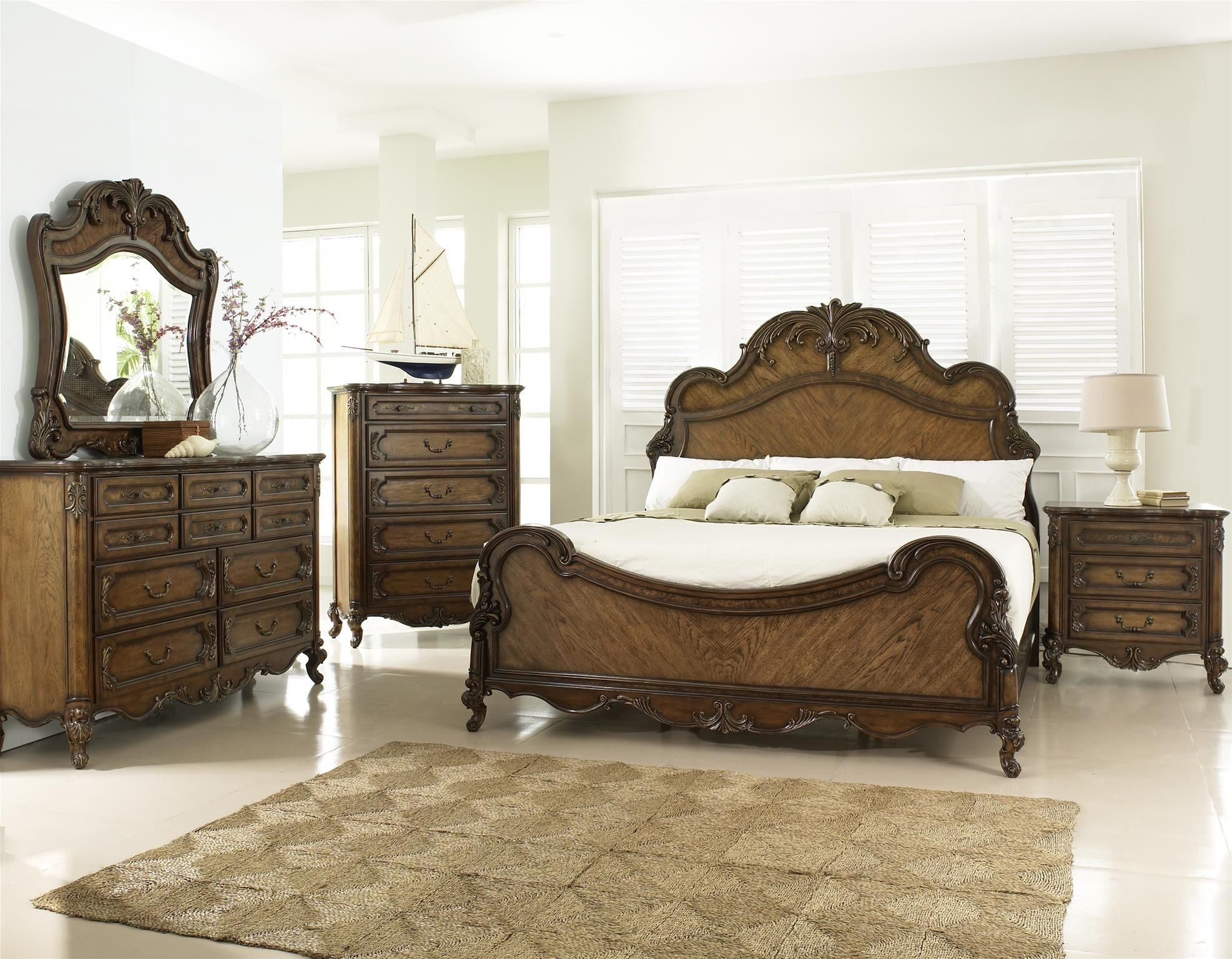 Rochelle Chestnut Panel Bedroom Set From Fairmont Designs C7025 Q Coleman Furniture