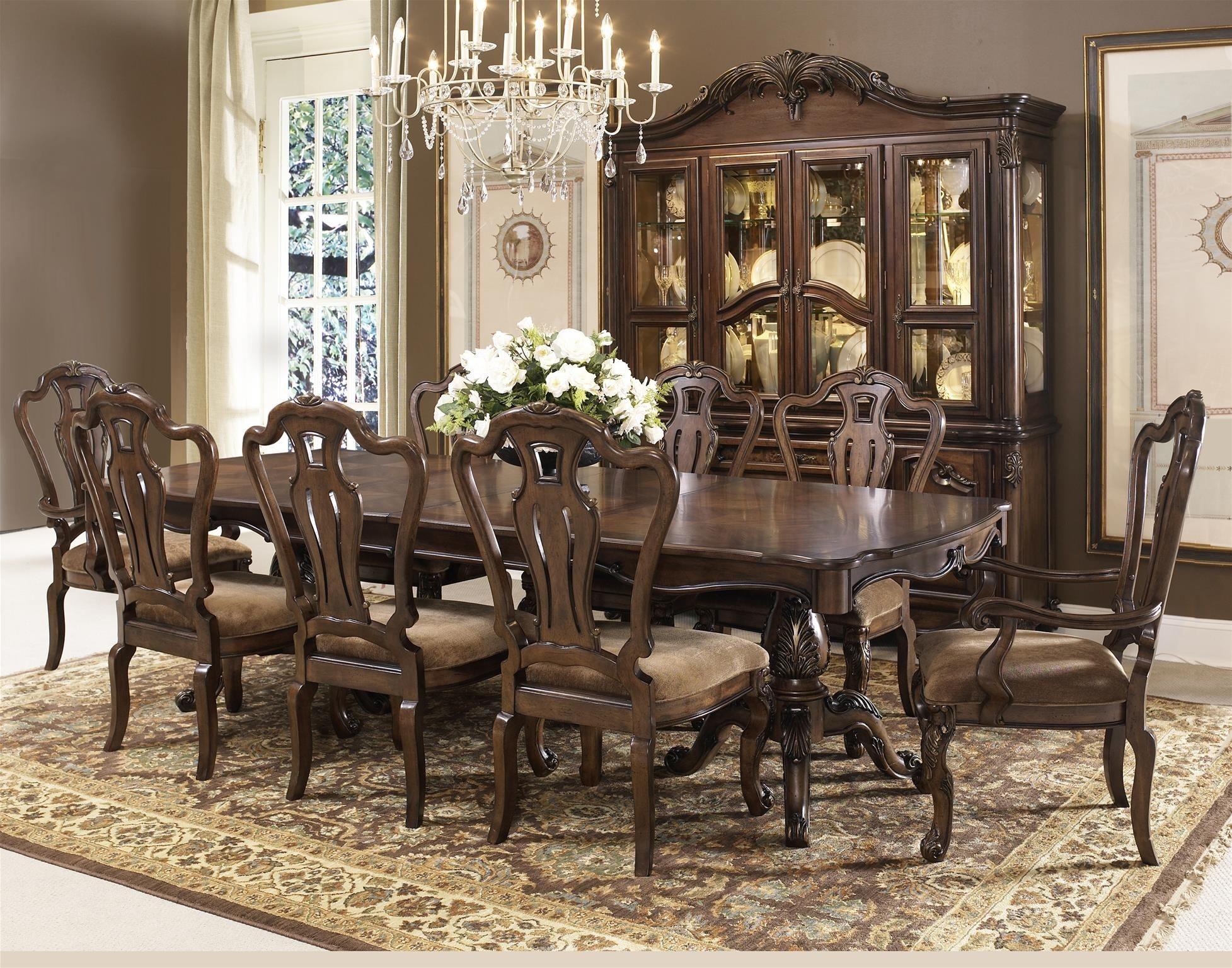 rochelle chestnut extendable rectangular leg dining room