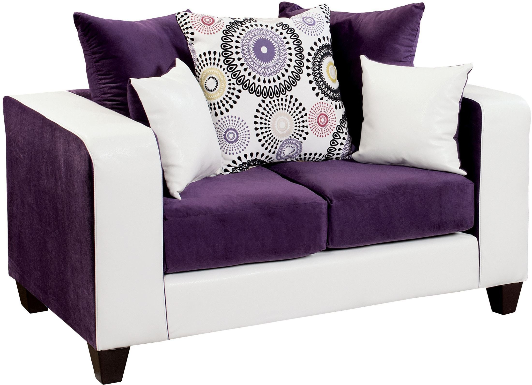 Riverstone Implosion Purple Velvet Loveseat Rs 4120 05l Gg Renegade Furniture