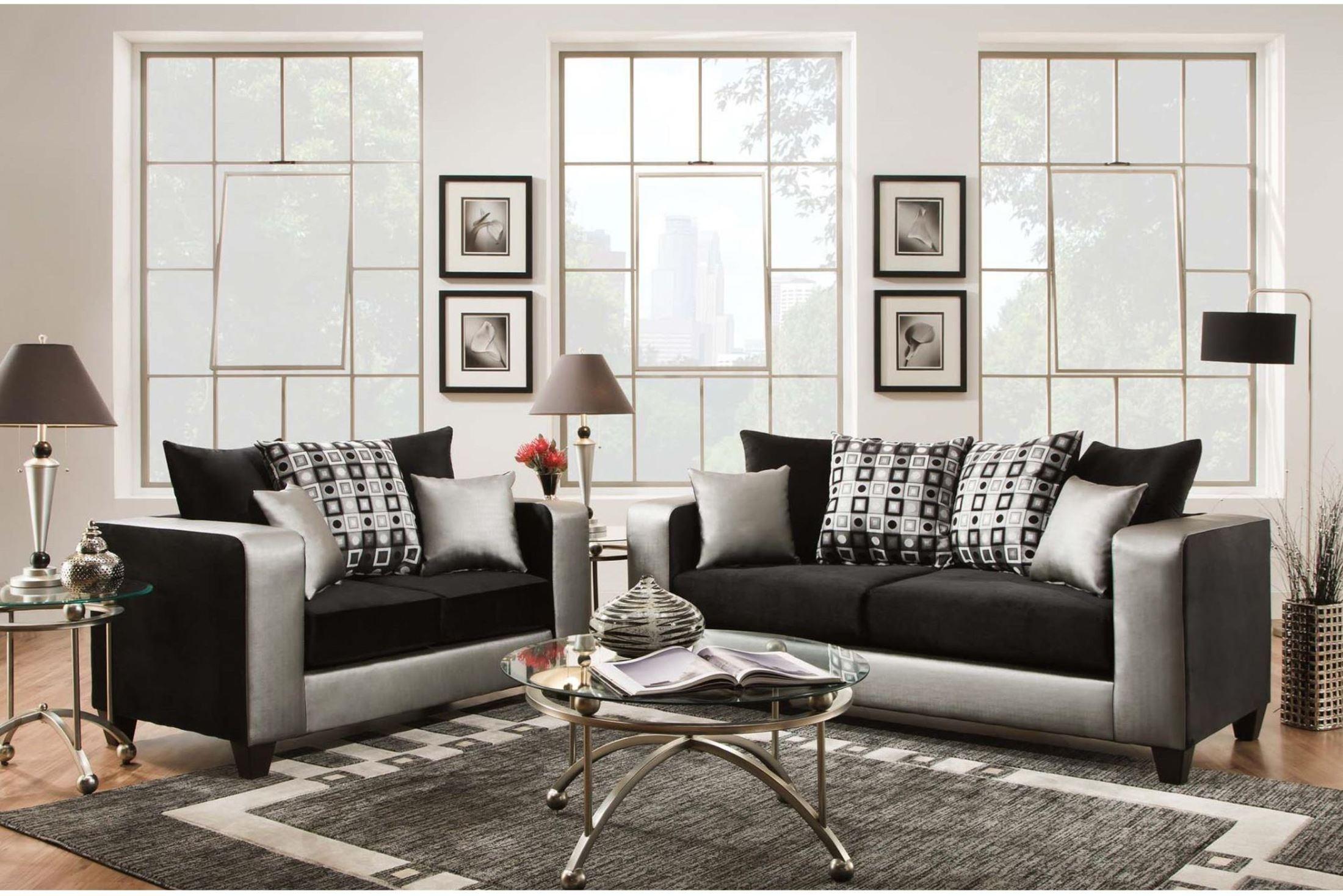 32230 riverstone implosion black velvet living room set rs 4120 06ls set gg renegade furniture. Black Bedroom Furniture Sets. Home Design Ideas