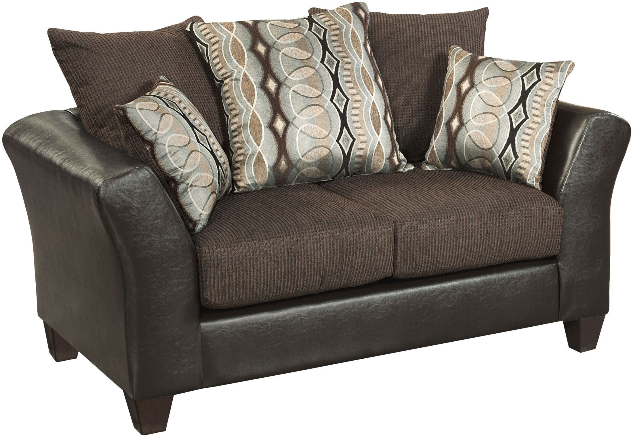 Riverstone Rip Sable Chenille Loveseat Rs 4173 01l Gg Renegade Furniture