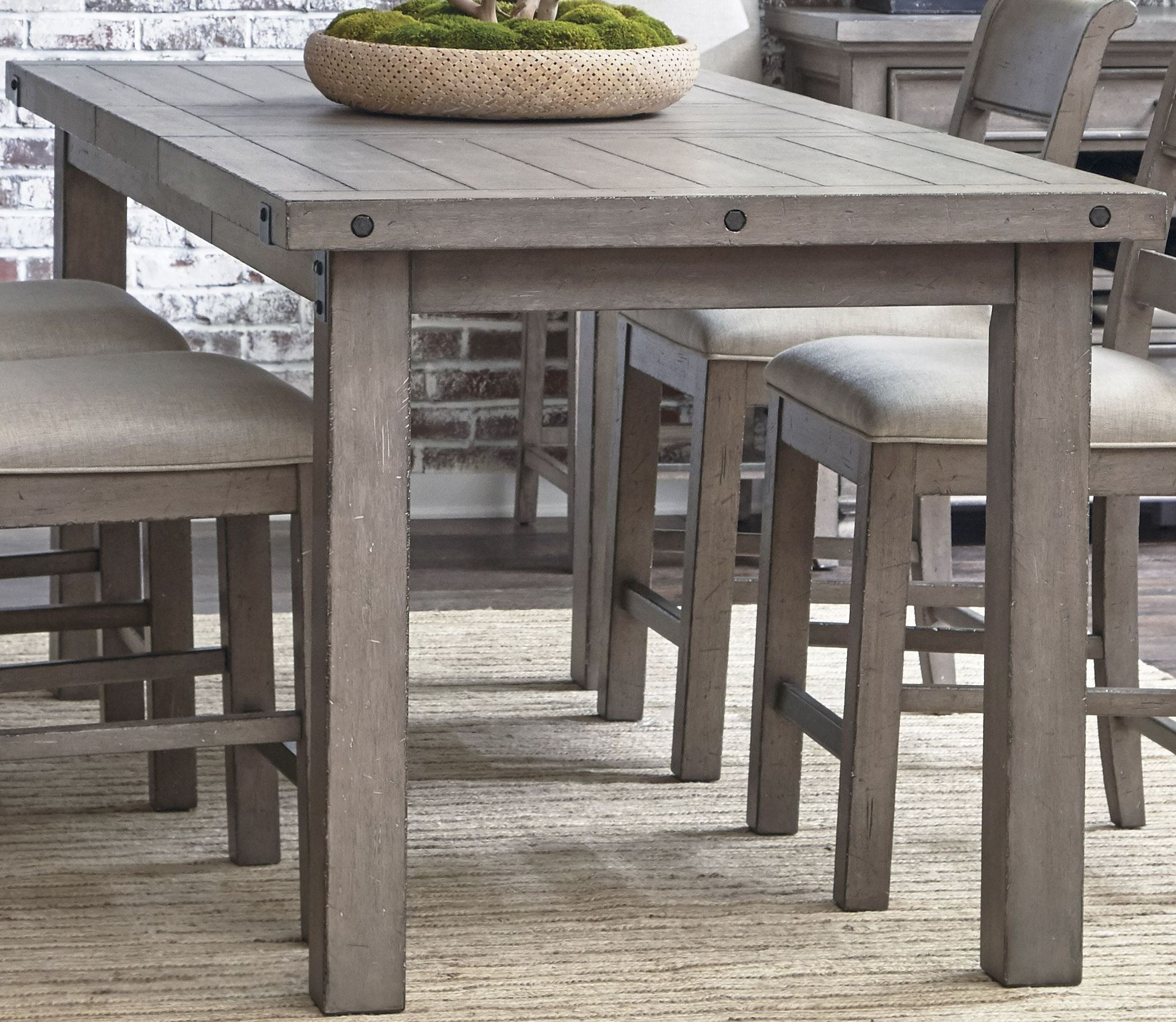 Prospect Hill Gray Rectangular Counter Height Dining Table