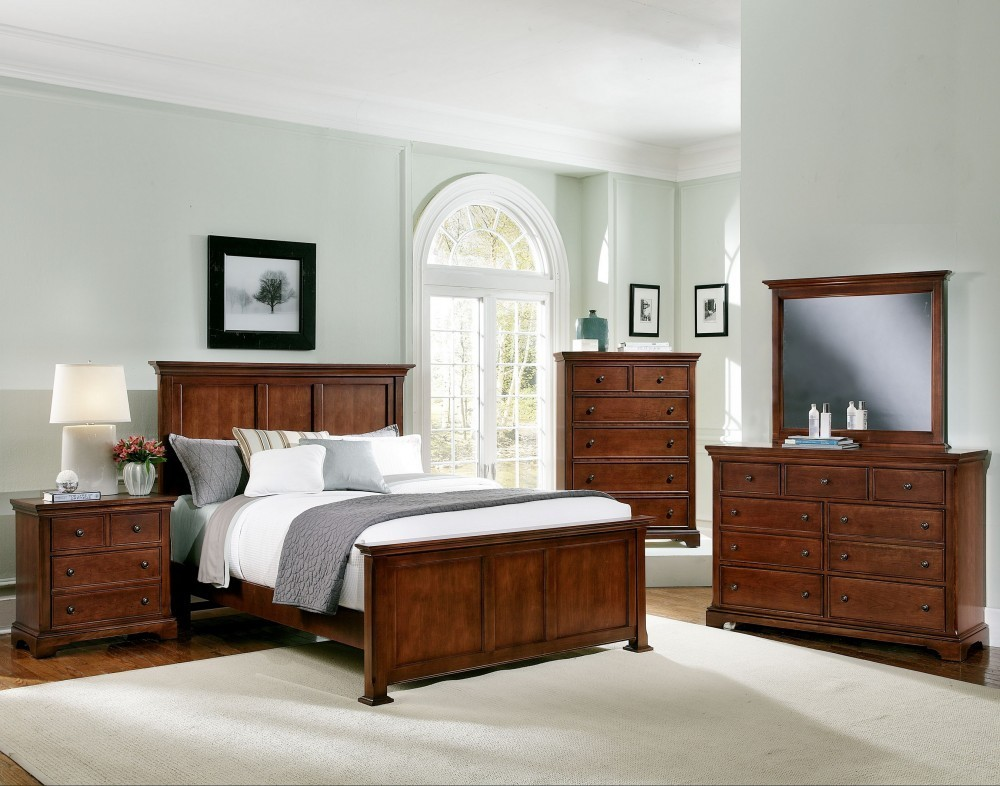 Forsyth Cherry Panel Bedroom Set Bb75 558 855 922