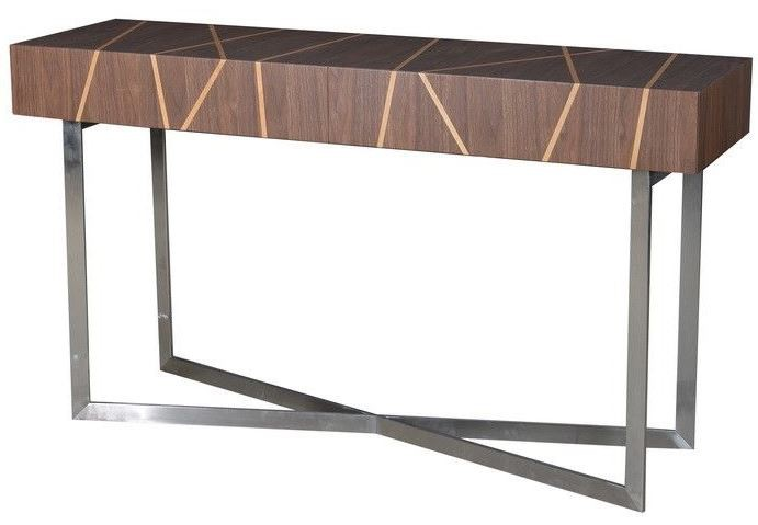 Shadow Brushed Stainless Steel Sofa Table SHADOW ST