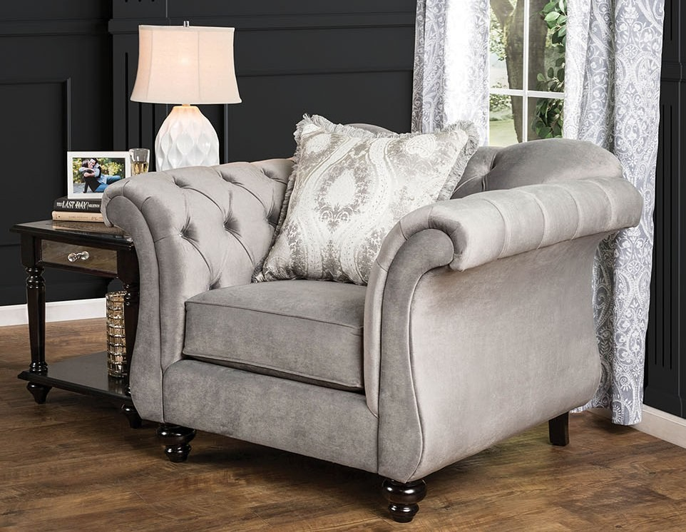 antoinette dolphin gray living room set sm2225 sf furniture of