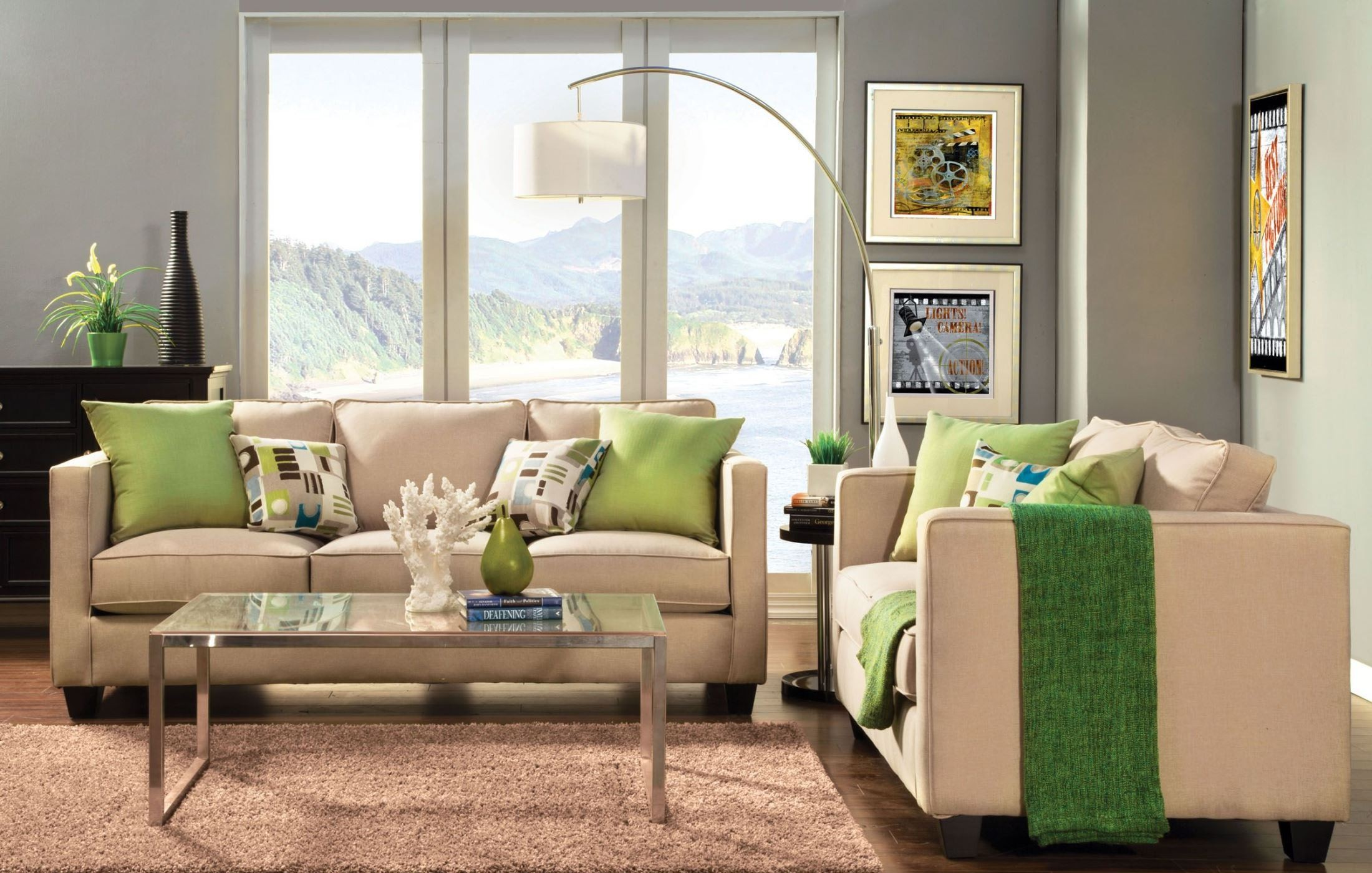 lasso beige living room set from furniture of america sm3051 sf