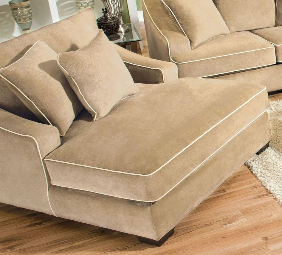 brighton beige champion fabric chaise sm5022 ce. Black Bedroom Furniture Sets. Home Design Ideas