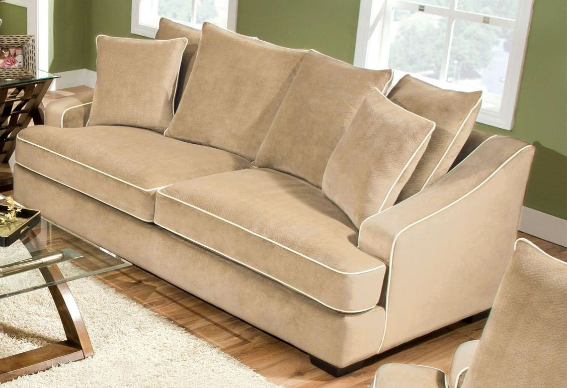 Brighton Beige Champion Fabric Sofa From Furniture Of