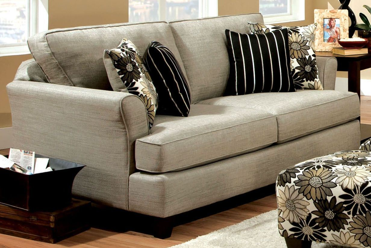 Cardiff Pewter Fabric Sofa From Furniture Of America Sm5042 Sf Coleman Furniture